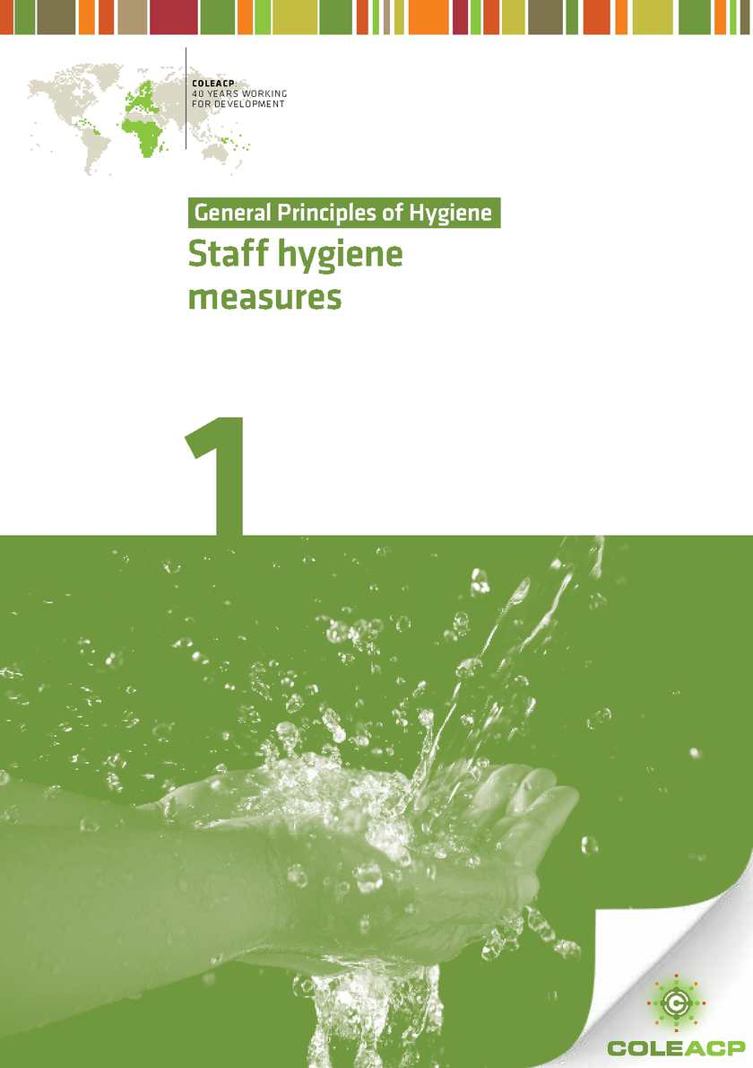General principles of hygiene: Staff hygiene measures