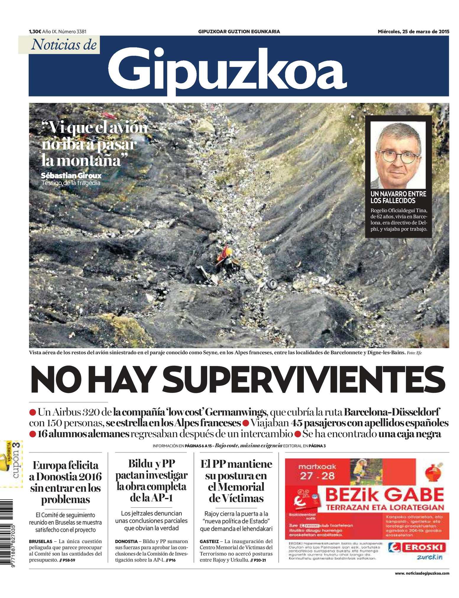 Calaméo - Noticias de Gipuzkoa 20150325