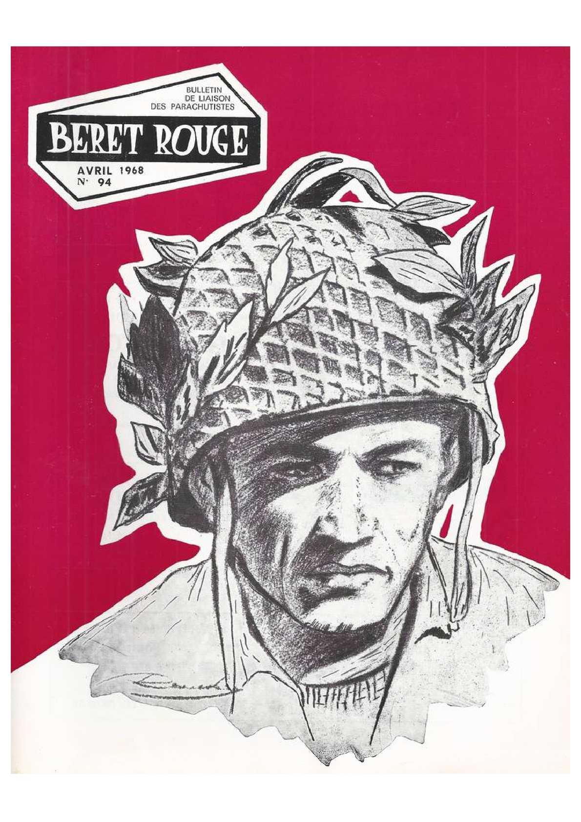Beret Rouge N°94 Avril 1968