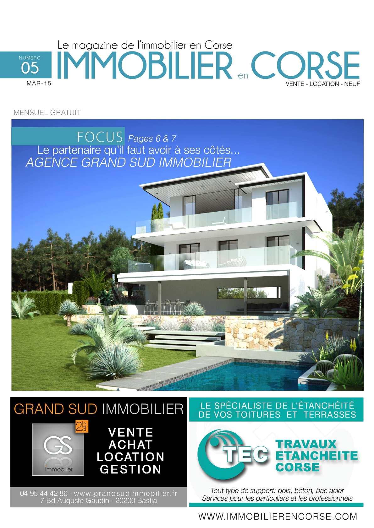 Immobilier en Corse - N°5 - Mars 2015