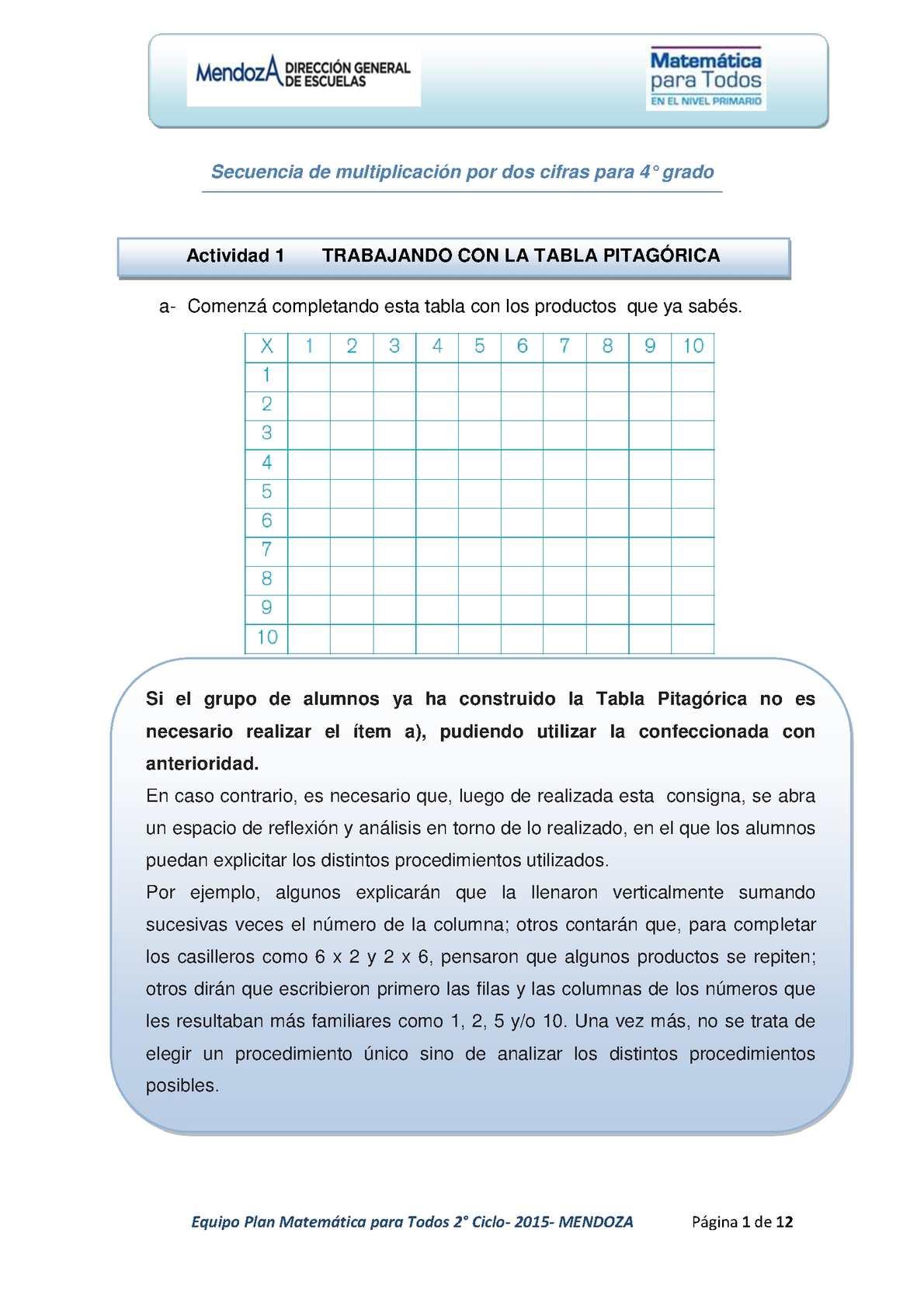 Calaméo - Secuencia De Multiplicación Por Dos Cifras Para 4
