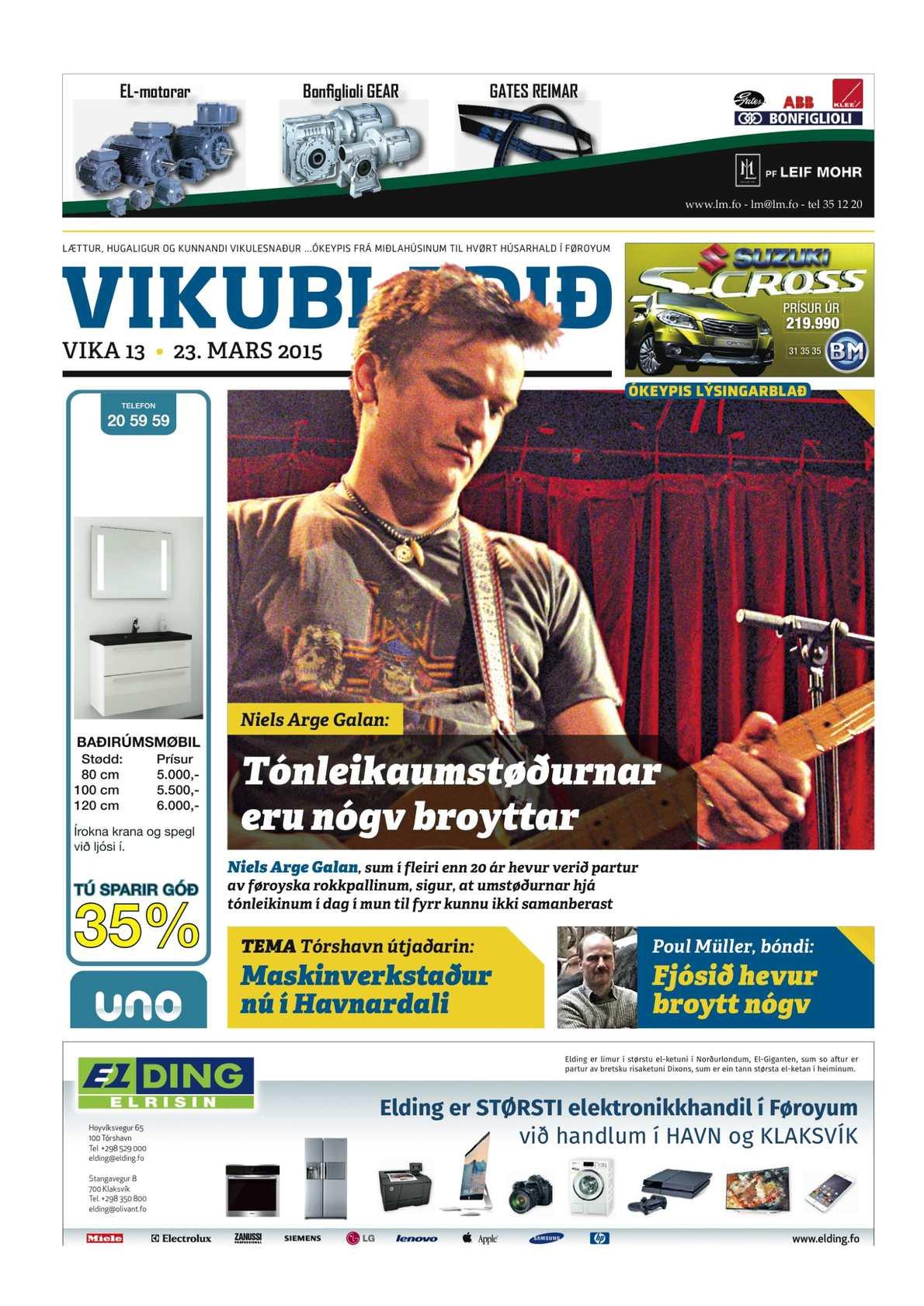 Vikublaðið 23. marts 2015