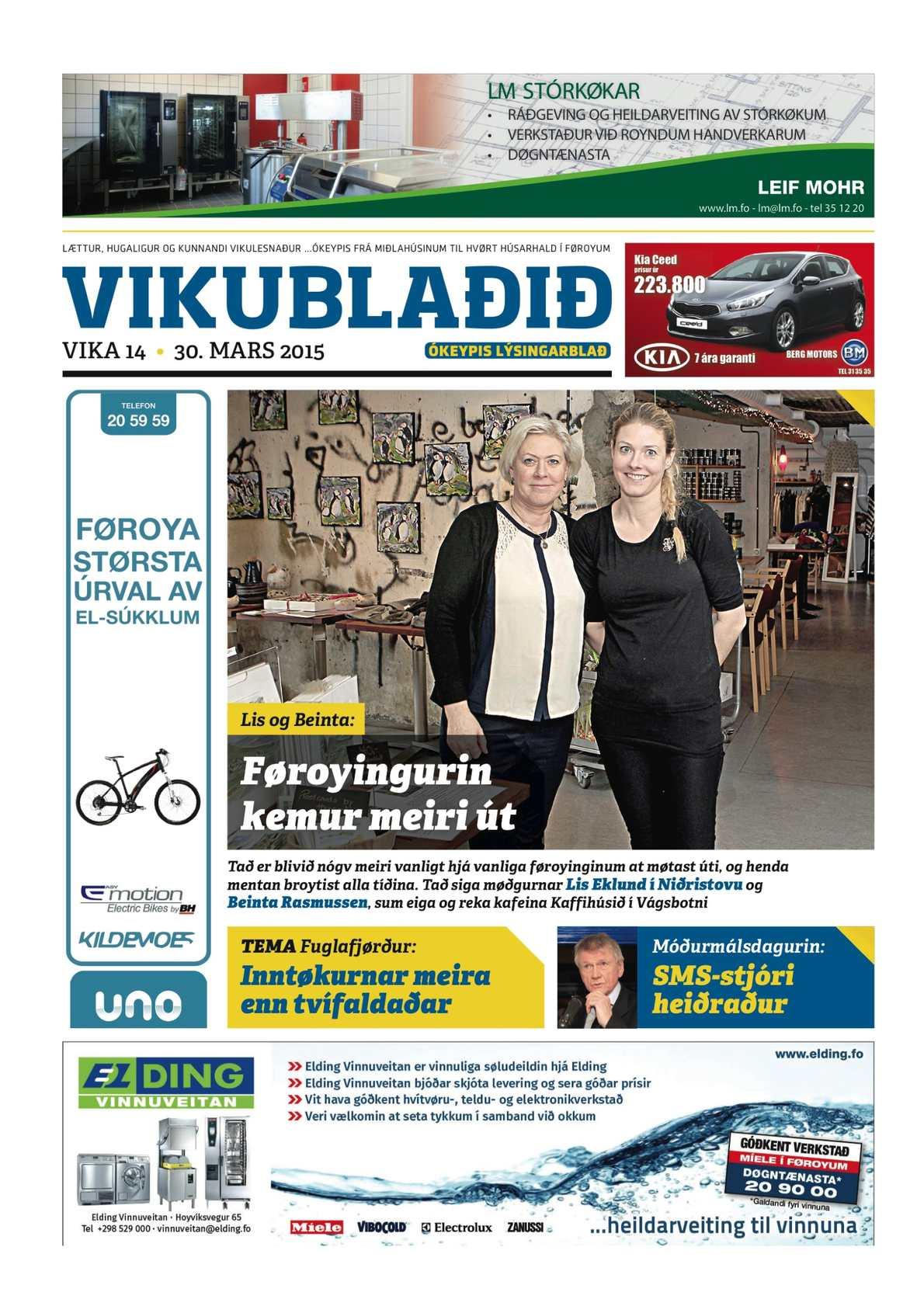 Vikublaðið 30. marts 2015