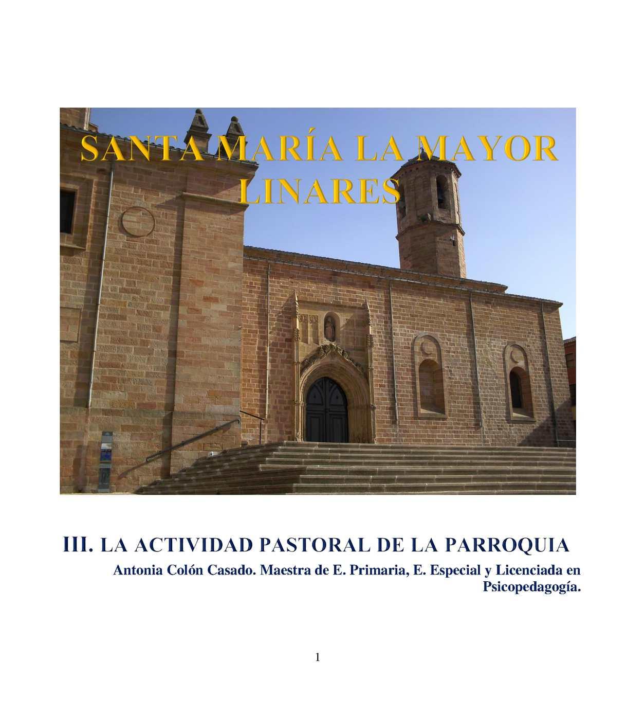 Calaméo - III. Actividad Pastoral de Santa María. Antonia Colón