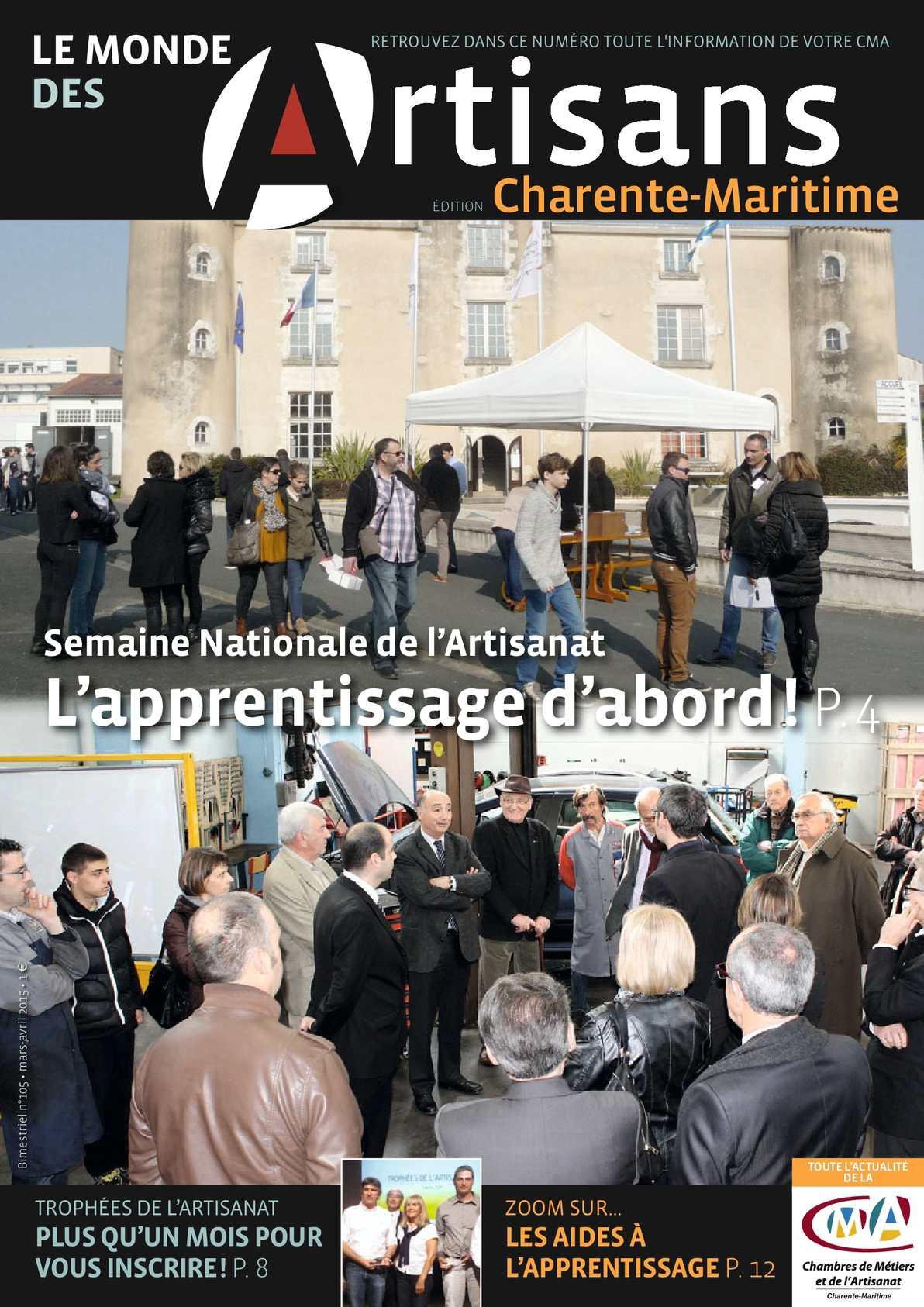 Calaméo La Mondes des Artisans Charente Maritime avril 2015