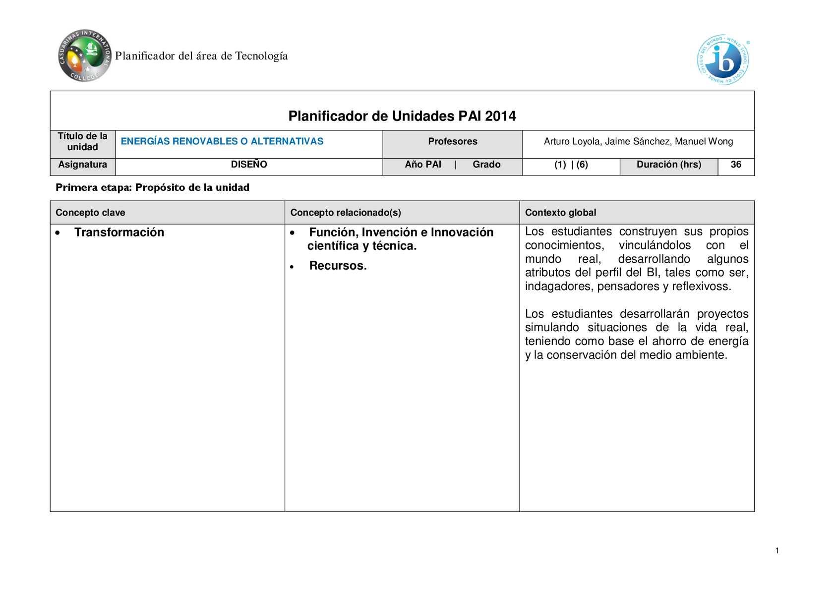 Calaméo - Archivo Prueba Doc 8vo Grado Para Calameo Planificador Pai ...