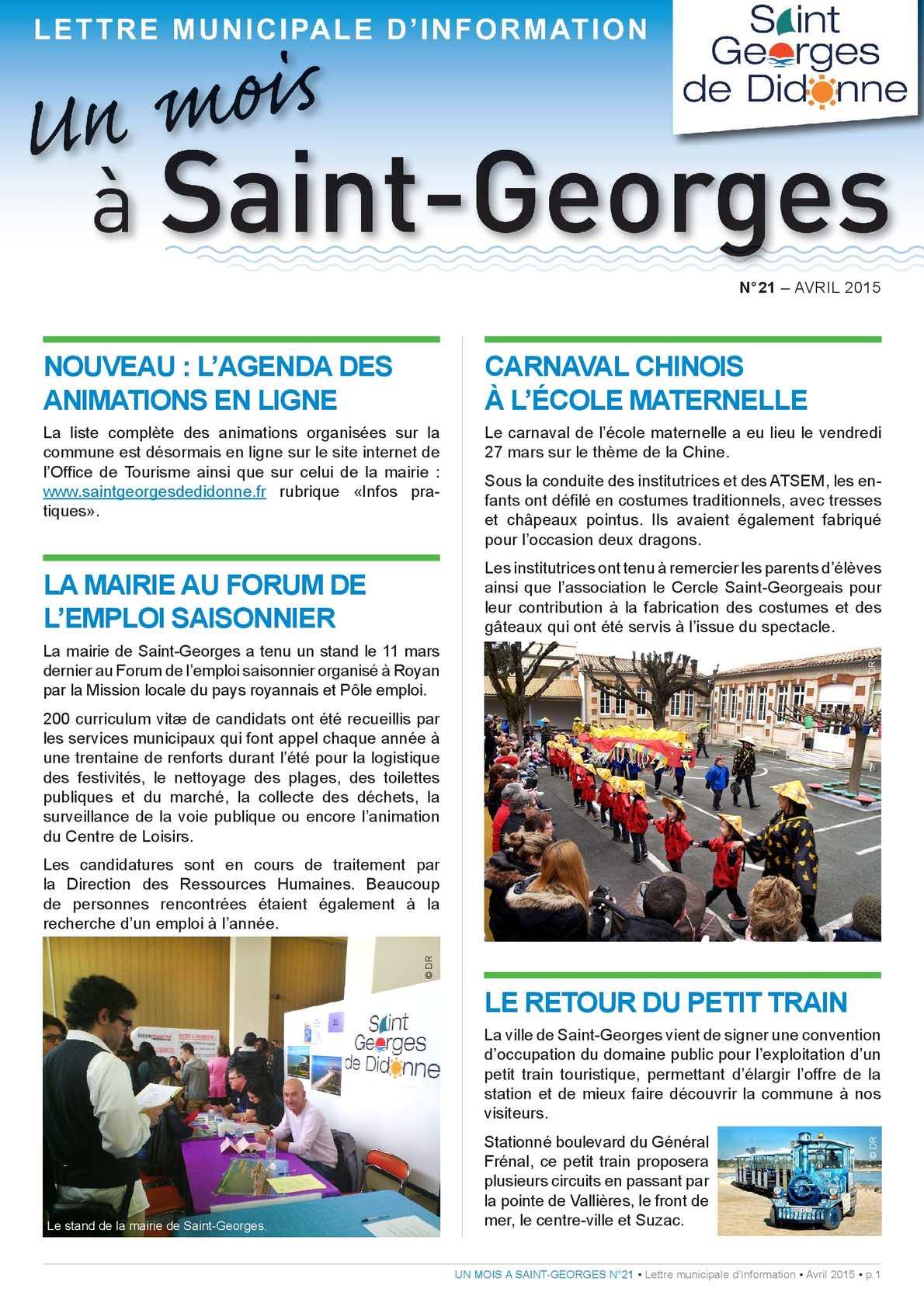 Calam o n 21 avril 2015 - Office du tourisme st georges de didonne ...