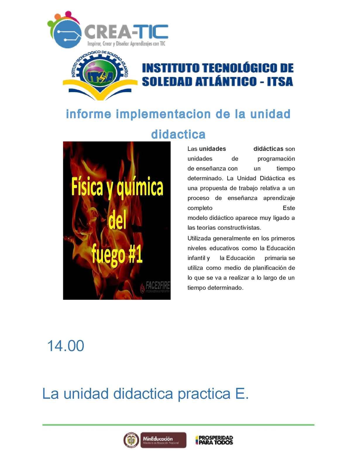 Calaméo - Plantilla Unidad Didactica Creatic, Tema E