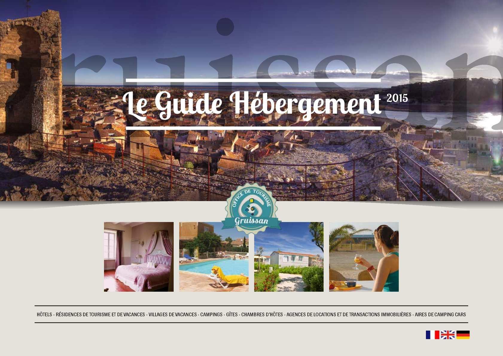 Calaméo Guide des Hébergements de Gruissan 2015