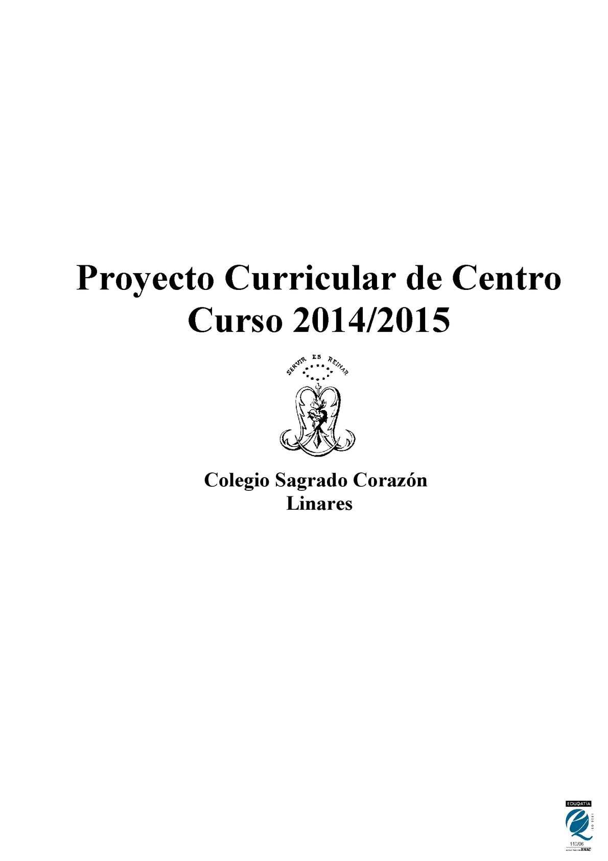 Calaméo - Proyecto Curricular De Centro 14 15