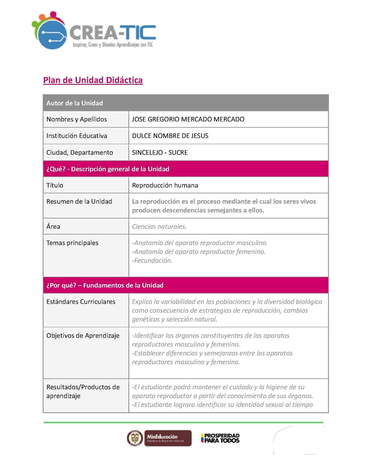 Calaméo - Plan De Unidad Jose Mercado 221