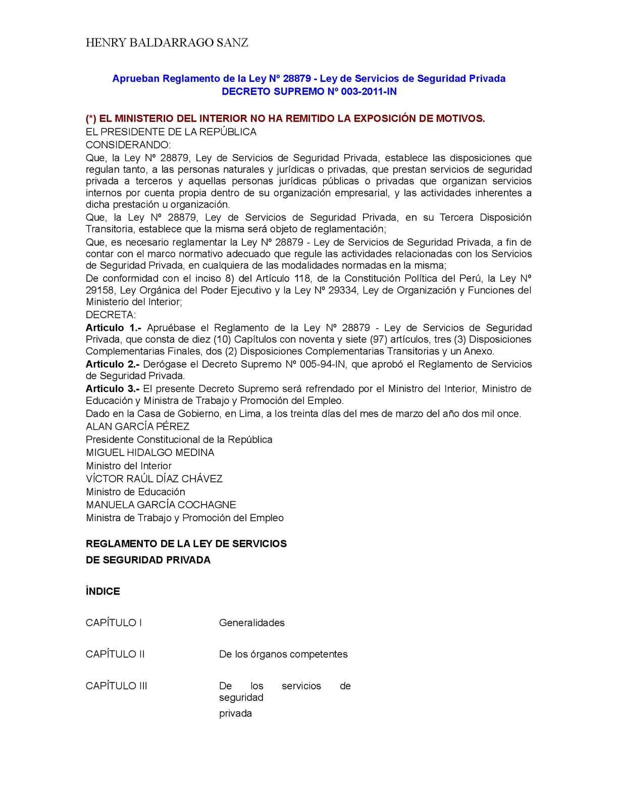 Calaméo - Aprueban Reglamento De La Ley Nº 28879