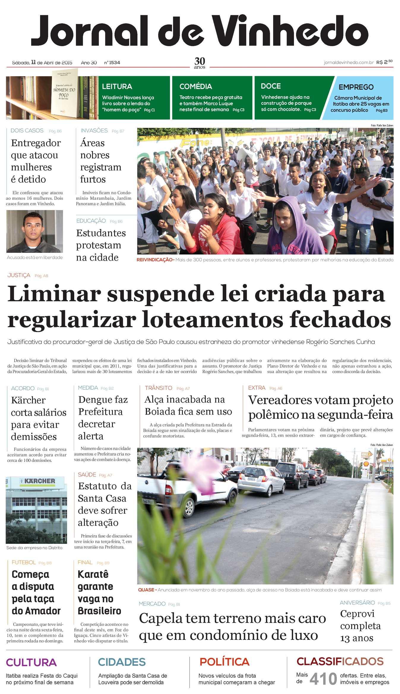 afb0996a37d0d Calaméo - Jornal De Vinhedo Sábado, 11 De Abril De 2015 Edic 1534