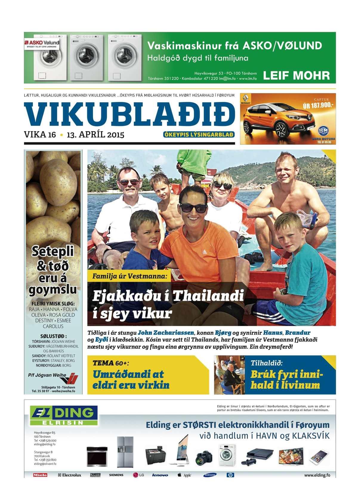 Vikublaðið 13. apr. 2015