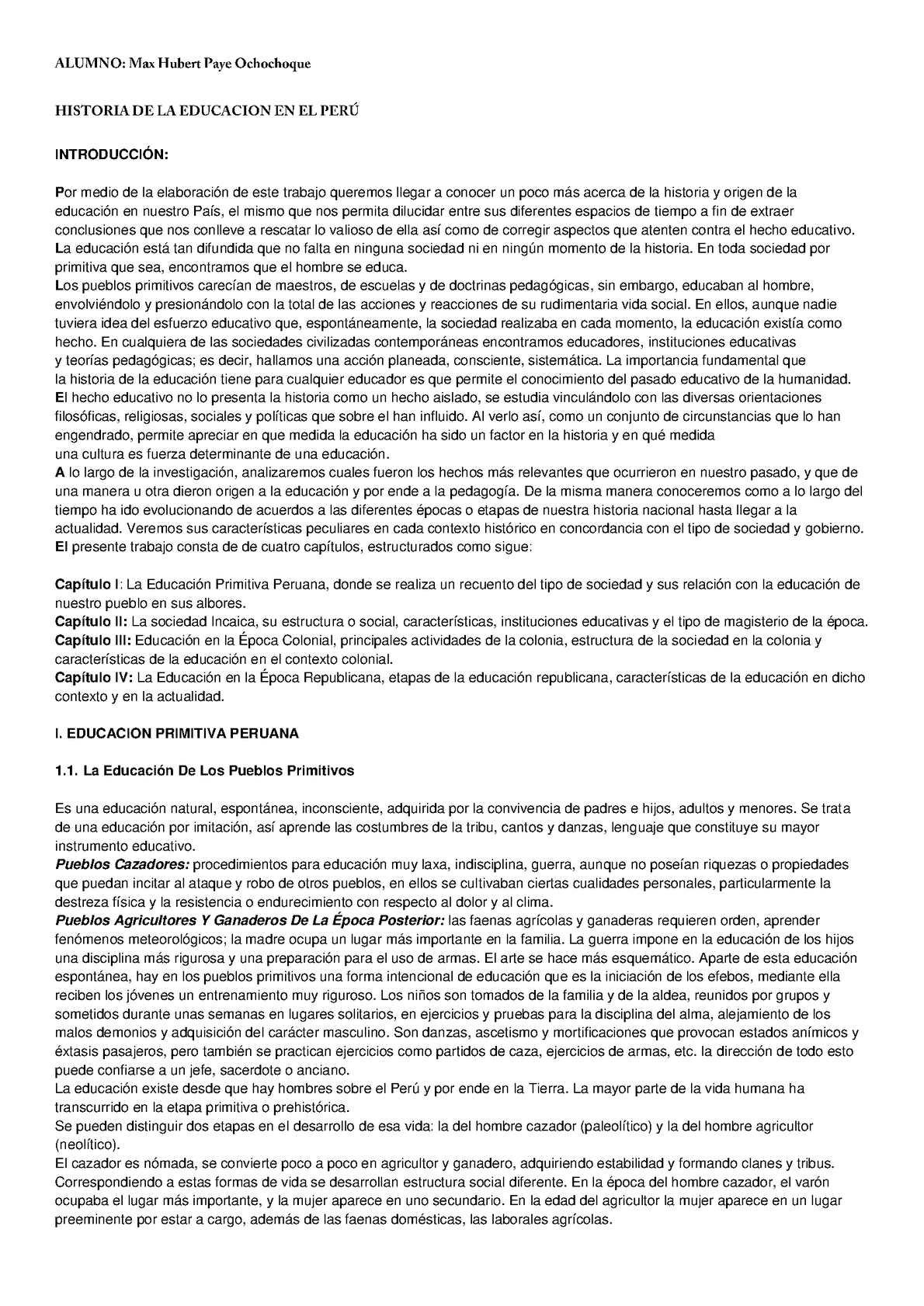 Historia de la educación del Perú