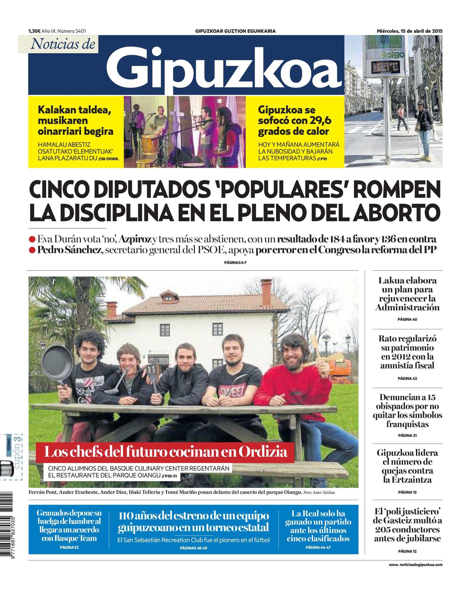 Calaméo - Noticias de Gipuzkoa 20150415