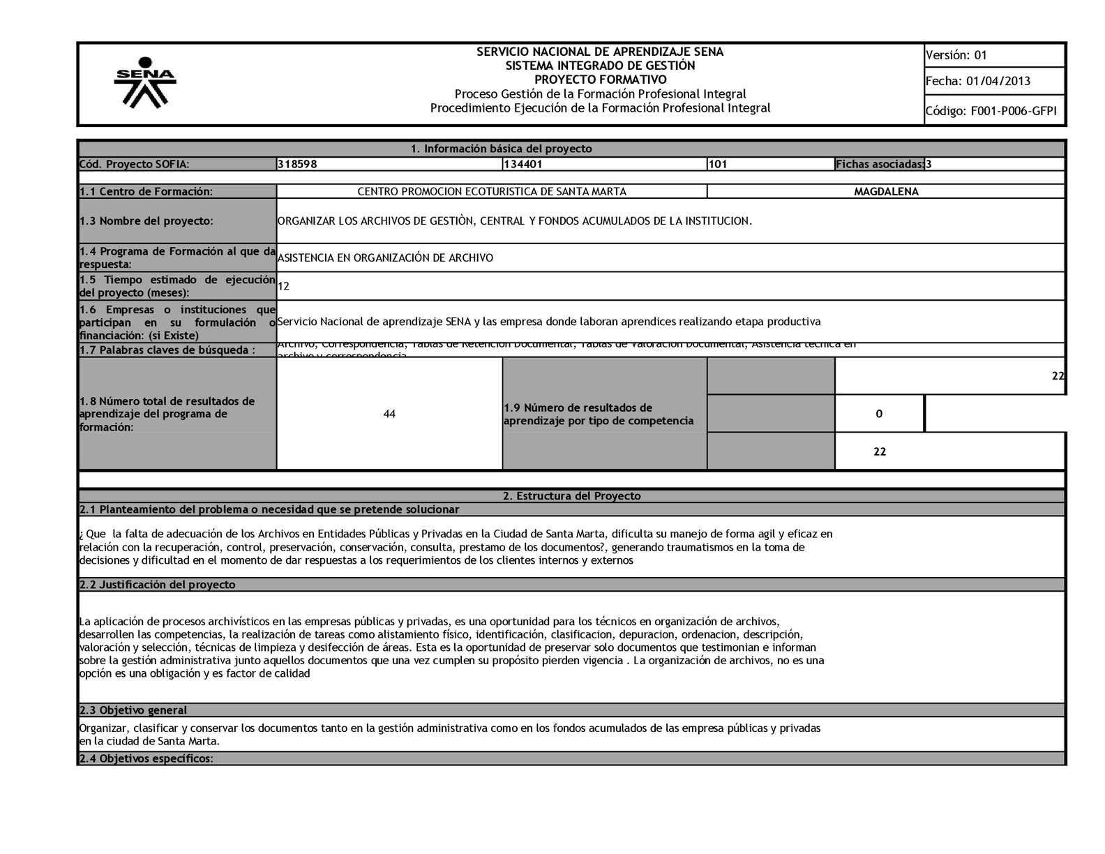 Proyecto Asitencia En Organización De Archivo 2 (1)