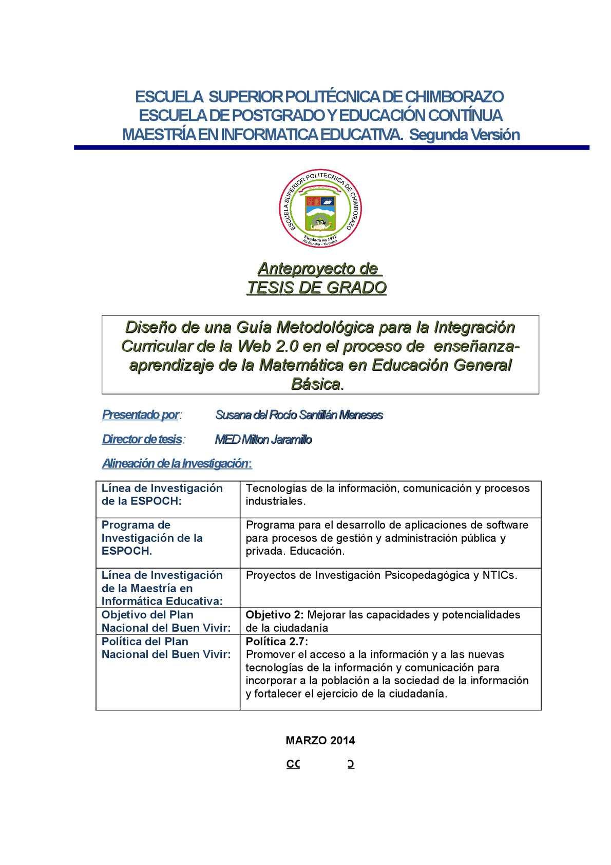 Calaméo - Anteproyecto De Tesis Maestria Arreglado