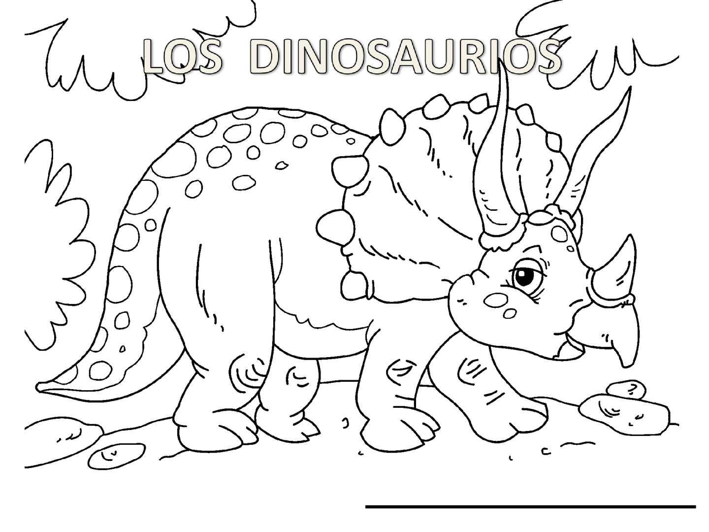 Increíble Tren De Dinosaurios Para Colorear Para Imprimir Galería ...