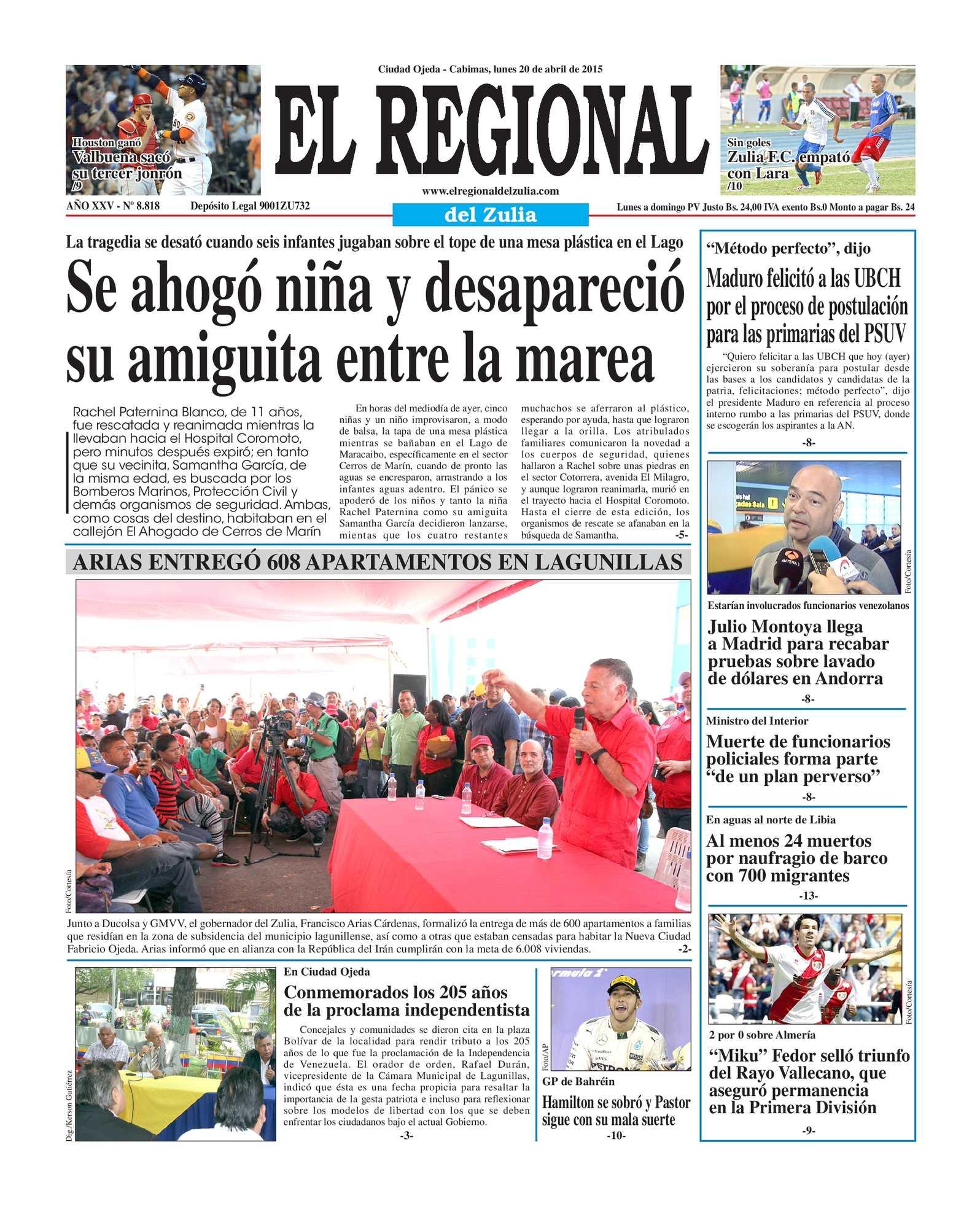 Calaméo - El Regional del Zulia 20-04-2015