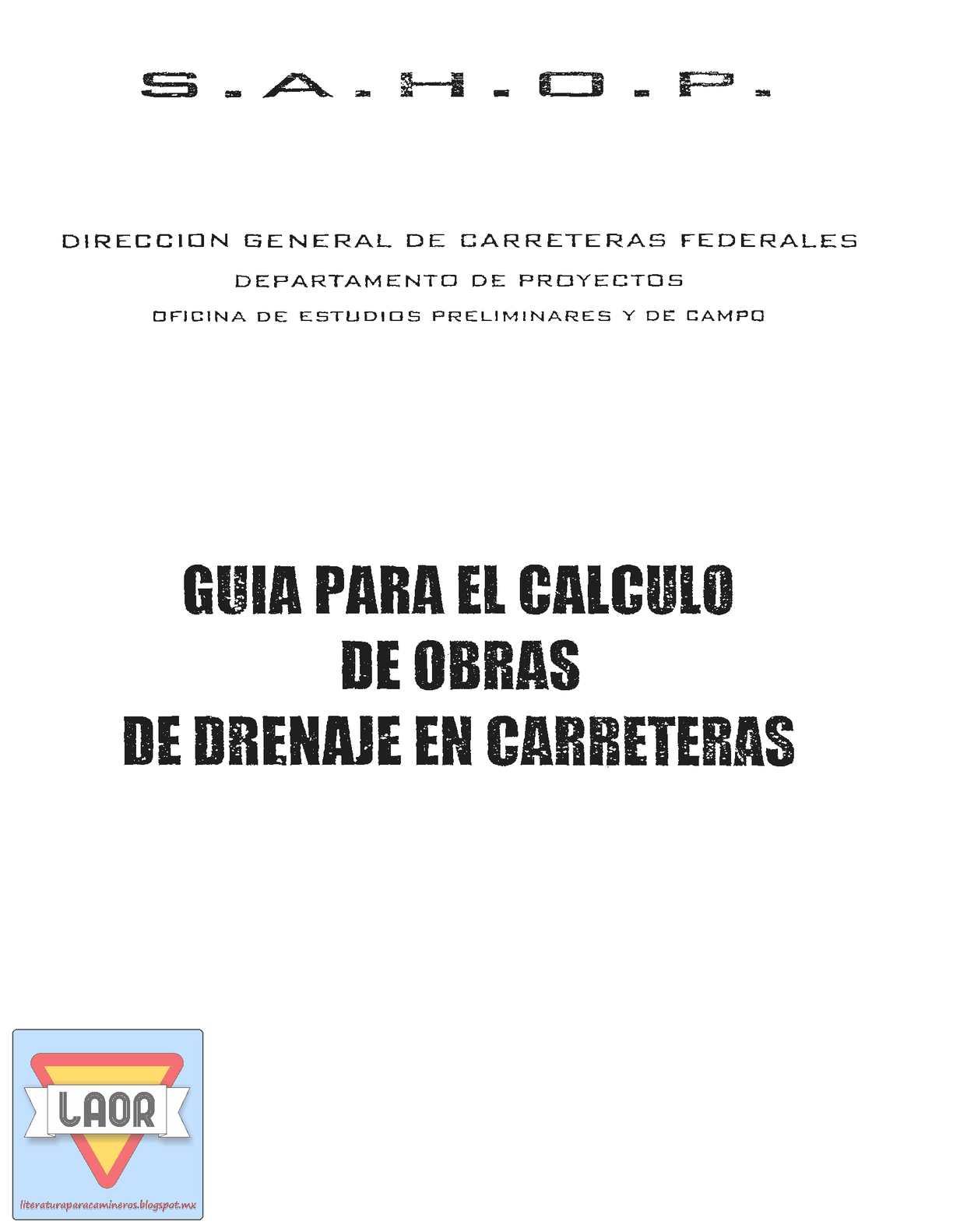 Calaméo - Guia Para Calculo Obras Drenaje Sahop