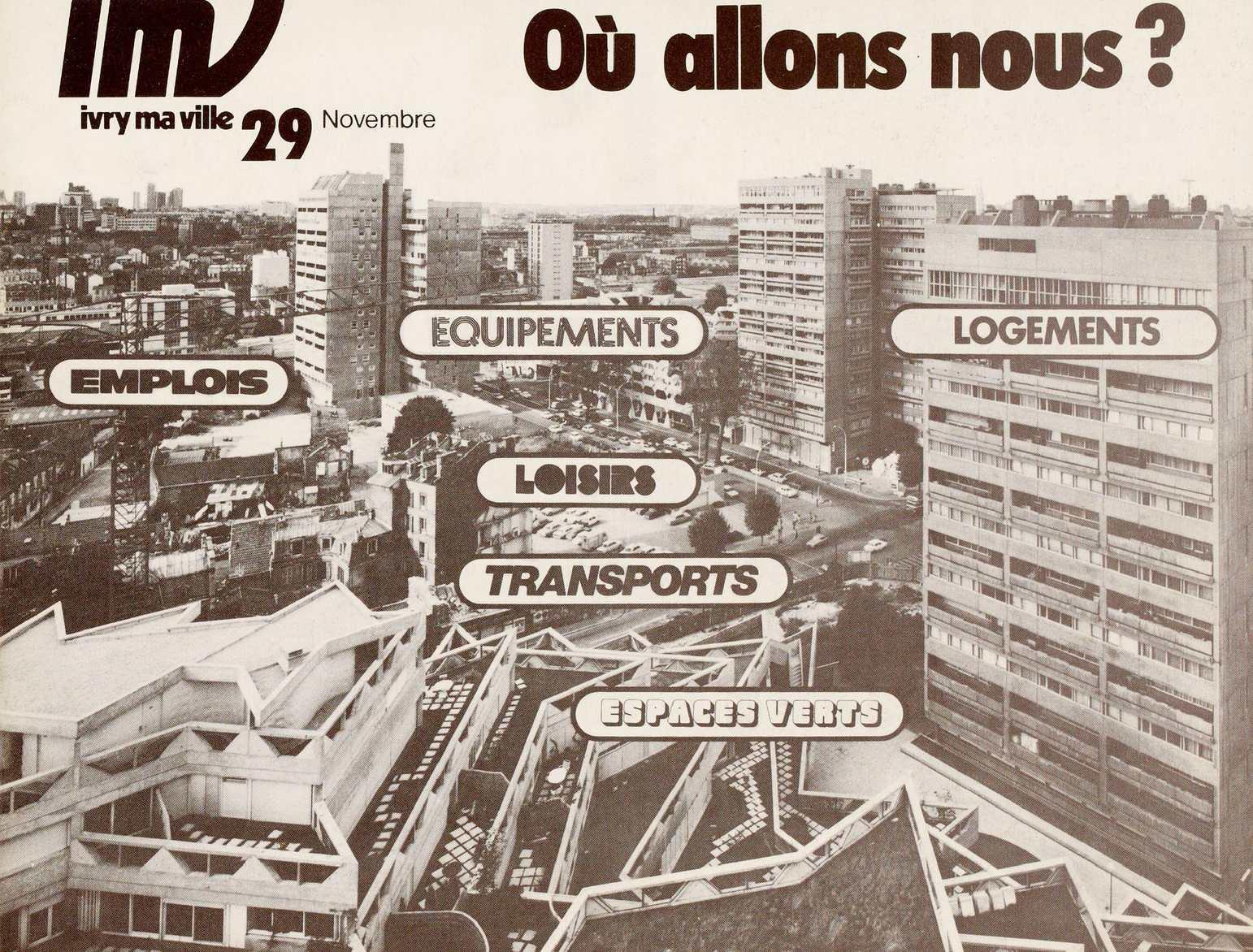 Calam o ivry ma ville n 29 novembre 1974 for Piscine ivry sur seine horaires