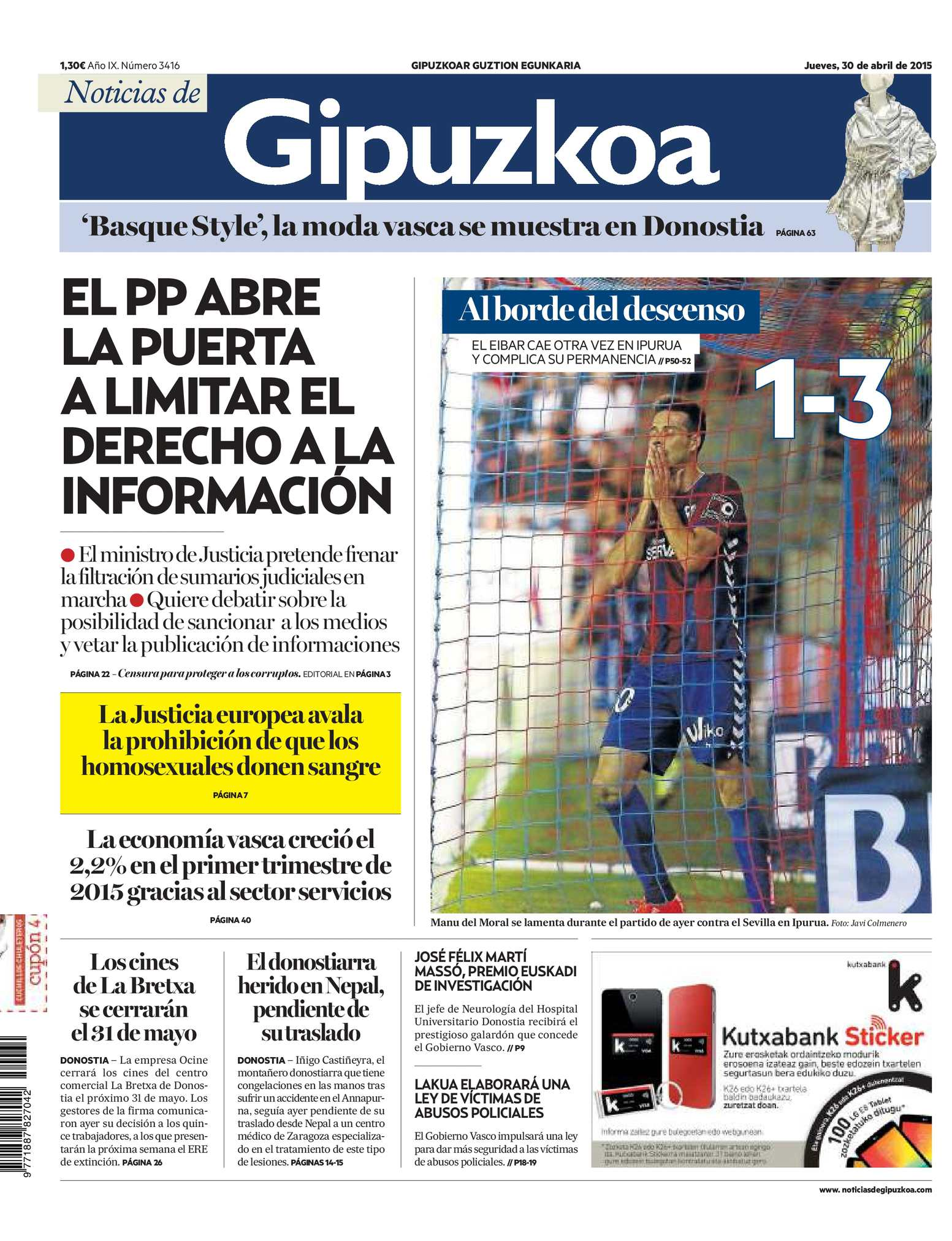 Calaméo - Noticias de Gipuzkoa 20150430