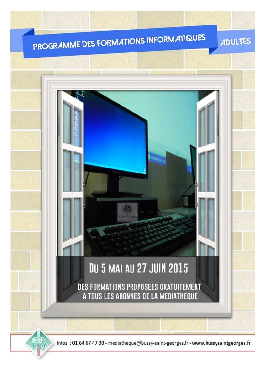 Livret des formations informatiques du 05 mai au 27 juin 2015