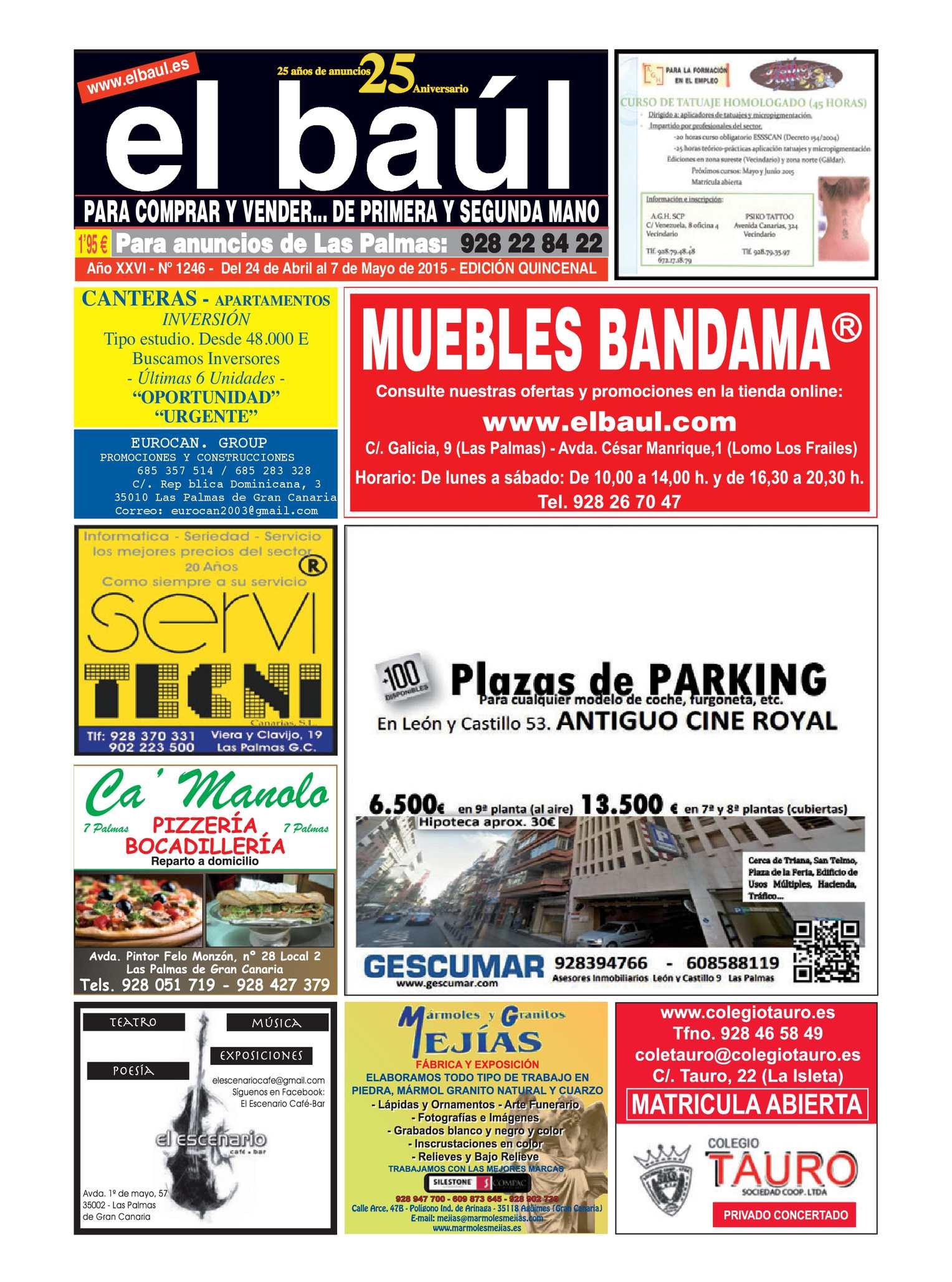 Calaméo - Periódico El Baúl - Las Palmas - Edición 1246
