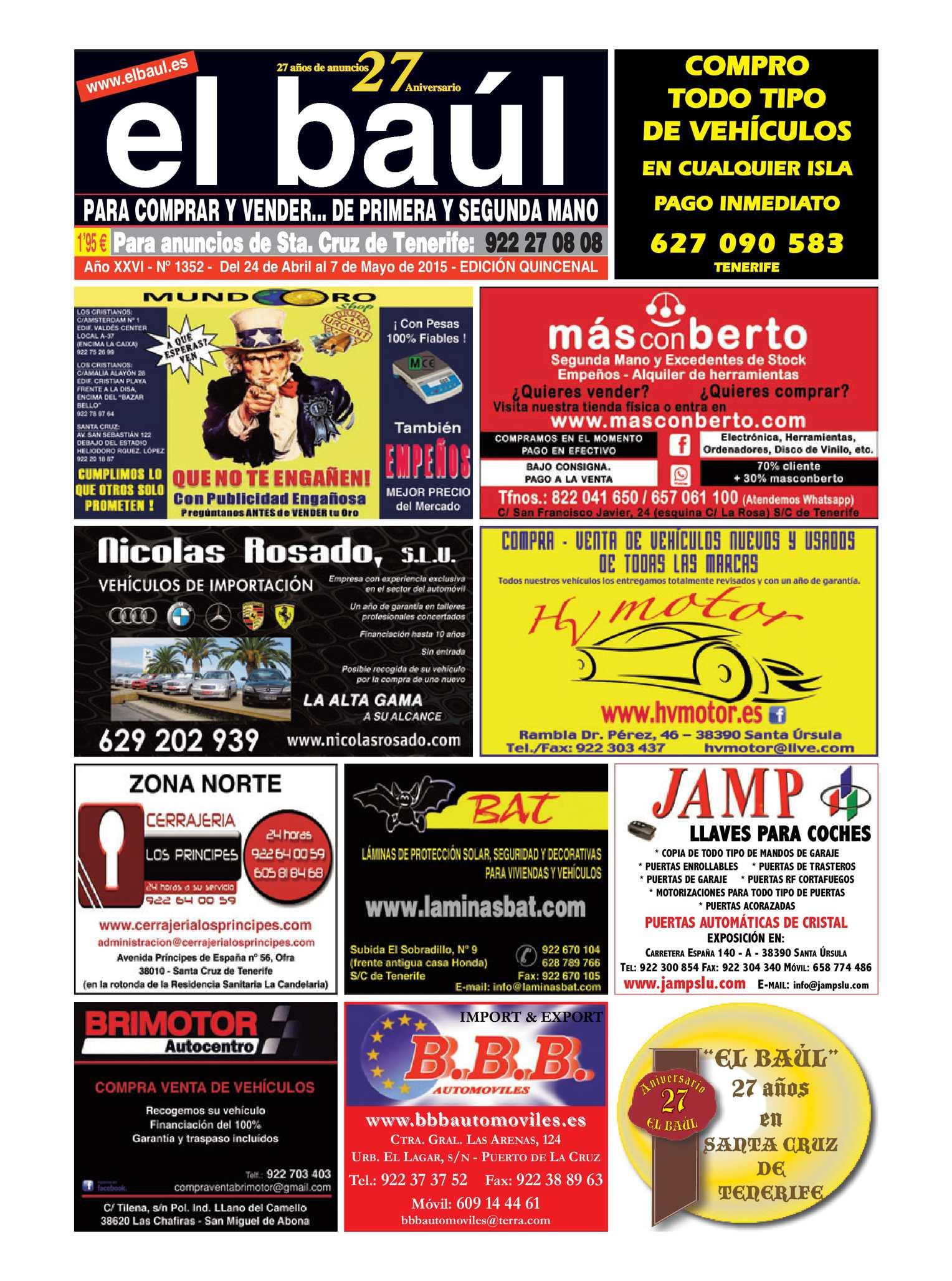 Baúl 1352 Cruz De Periódico Tenerife Edición Calaméo El Sta 8wEx7q