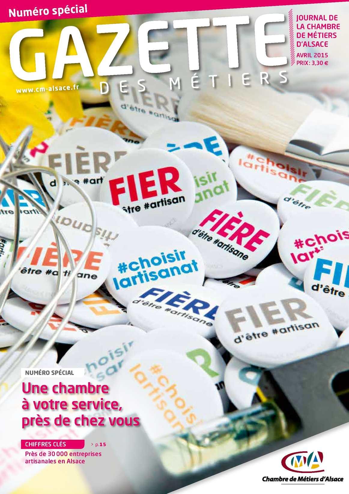 Calam o la gazette des m tiers avril 2015 - Chambre des metiers strasbourg ...