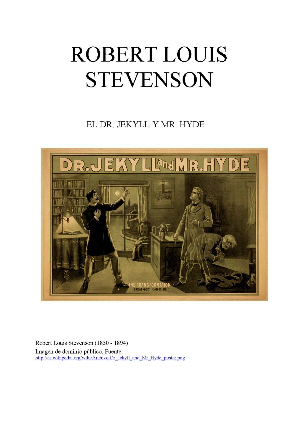 Calaméo - Dr Jekyll and Mr Hyde; Robert Louis Stevenson