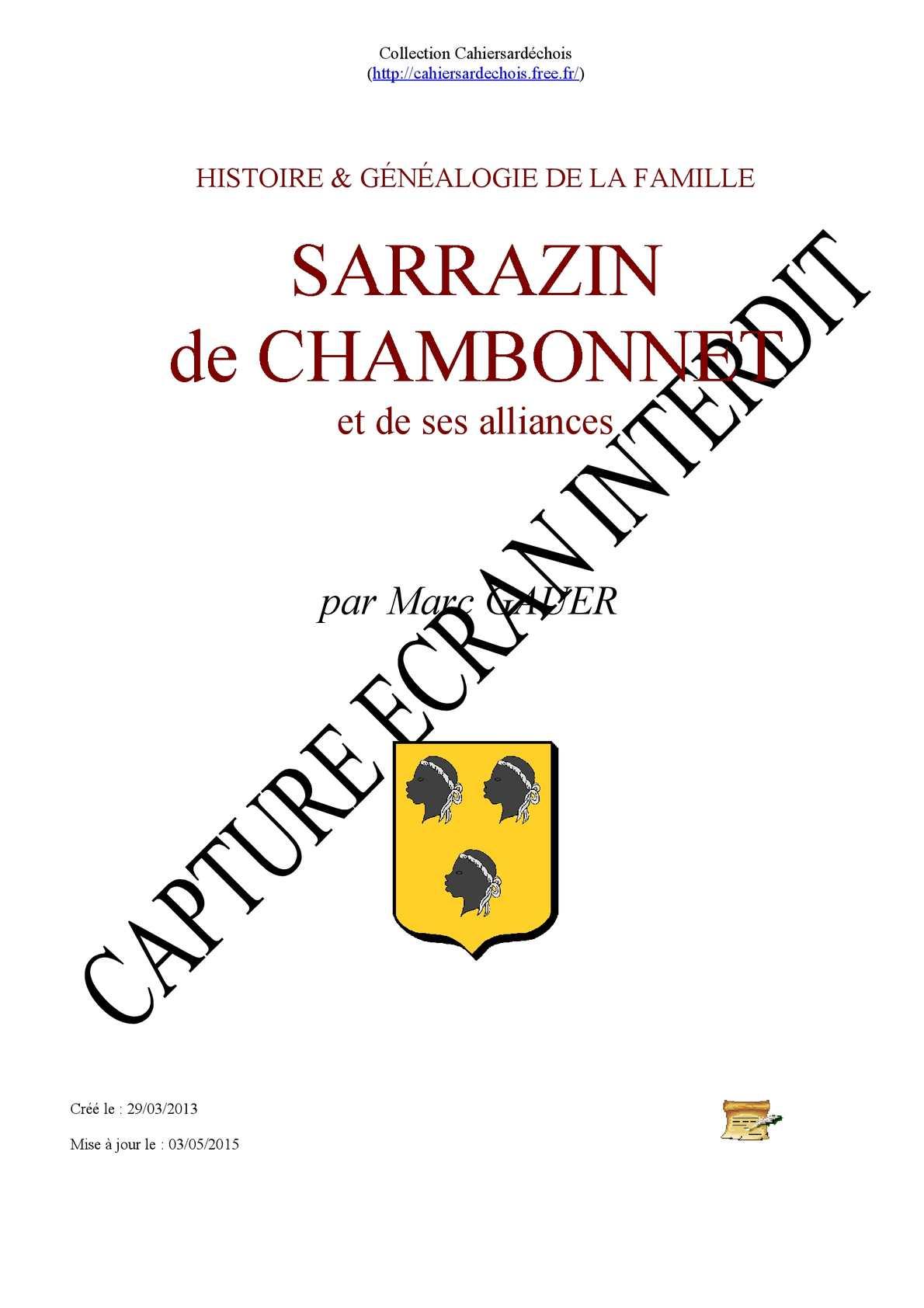 Sarrazin de Chambonnet