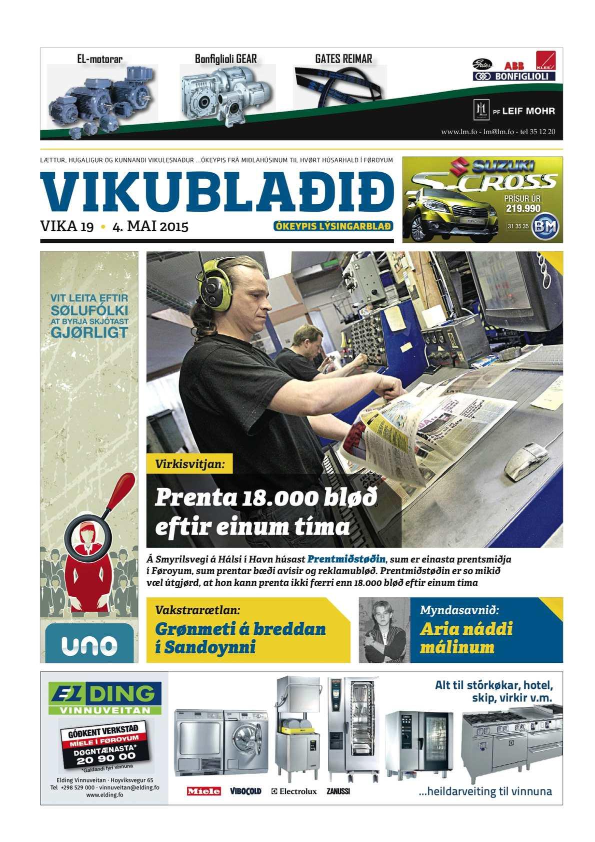 Vikublaðið   4. mai 2015