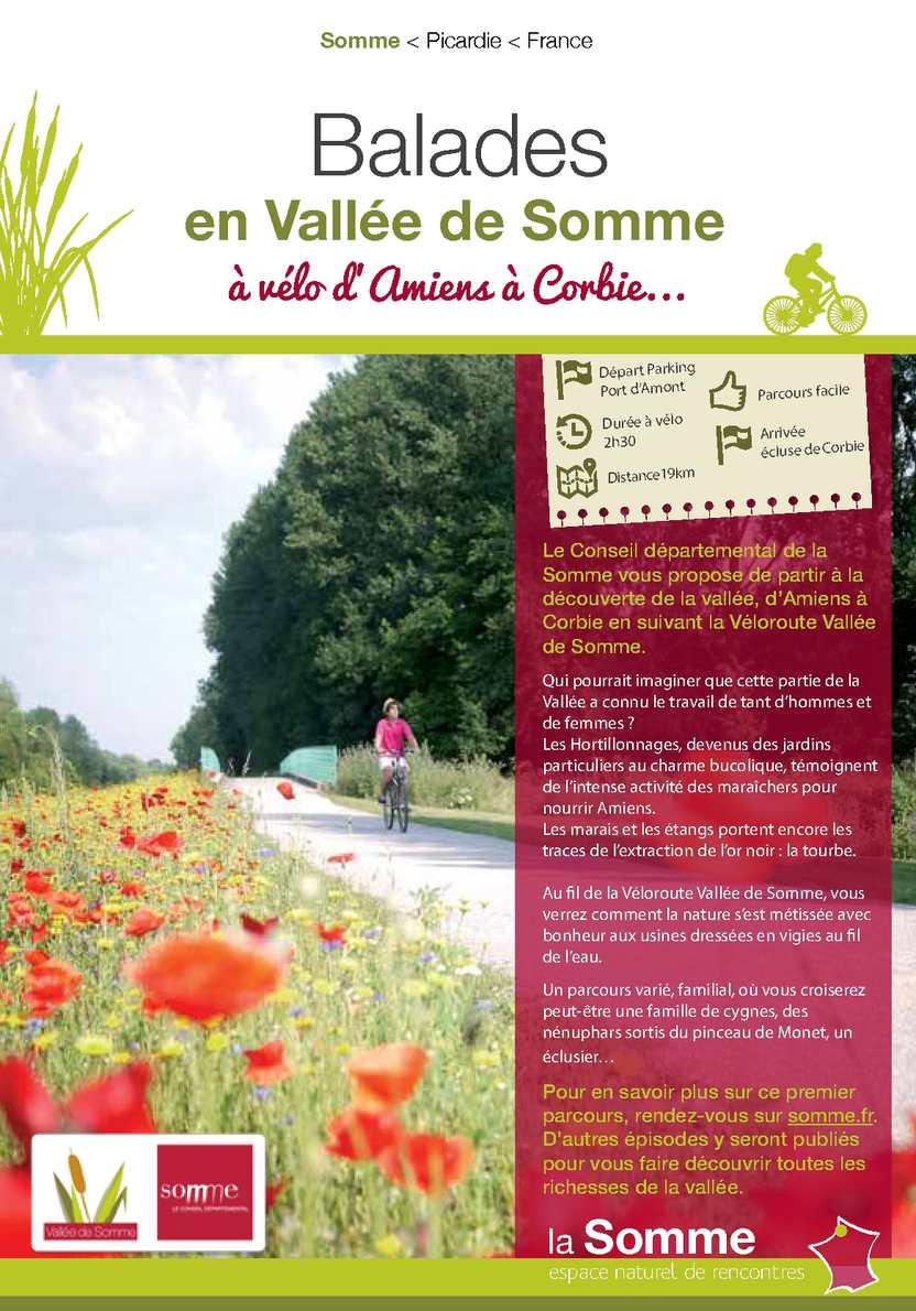 Ballades à vélo d'Amiens à Corbie