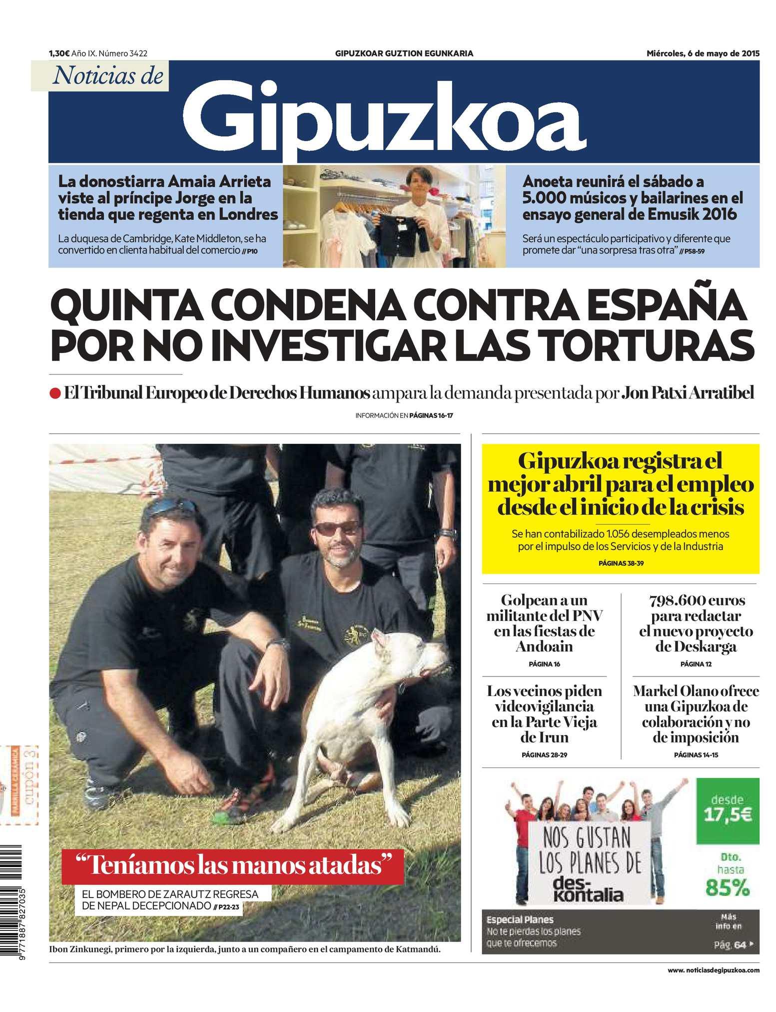 Calaméo - Noticias de Gipuzkoa 20150506