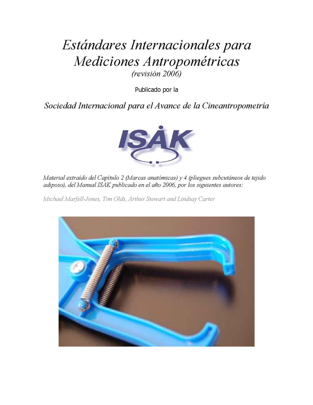 Isak Estandares Internacionales Para Mediciones Antropometricas