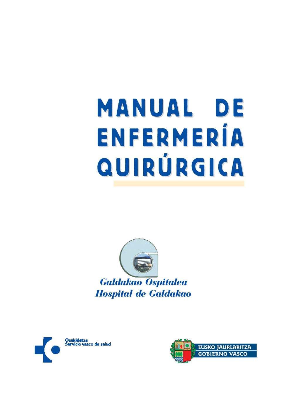 Calam o manual de enfermeria quirurgica for Manual de viveros forestales pdf