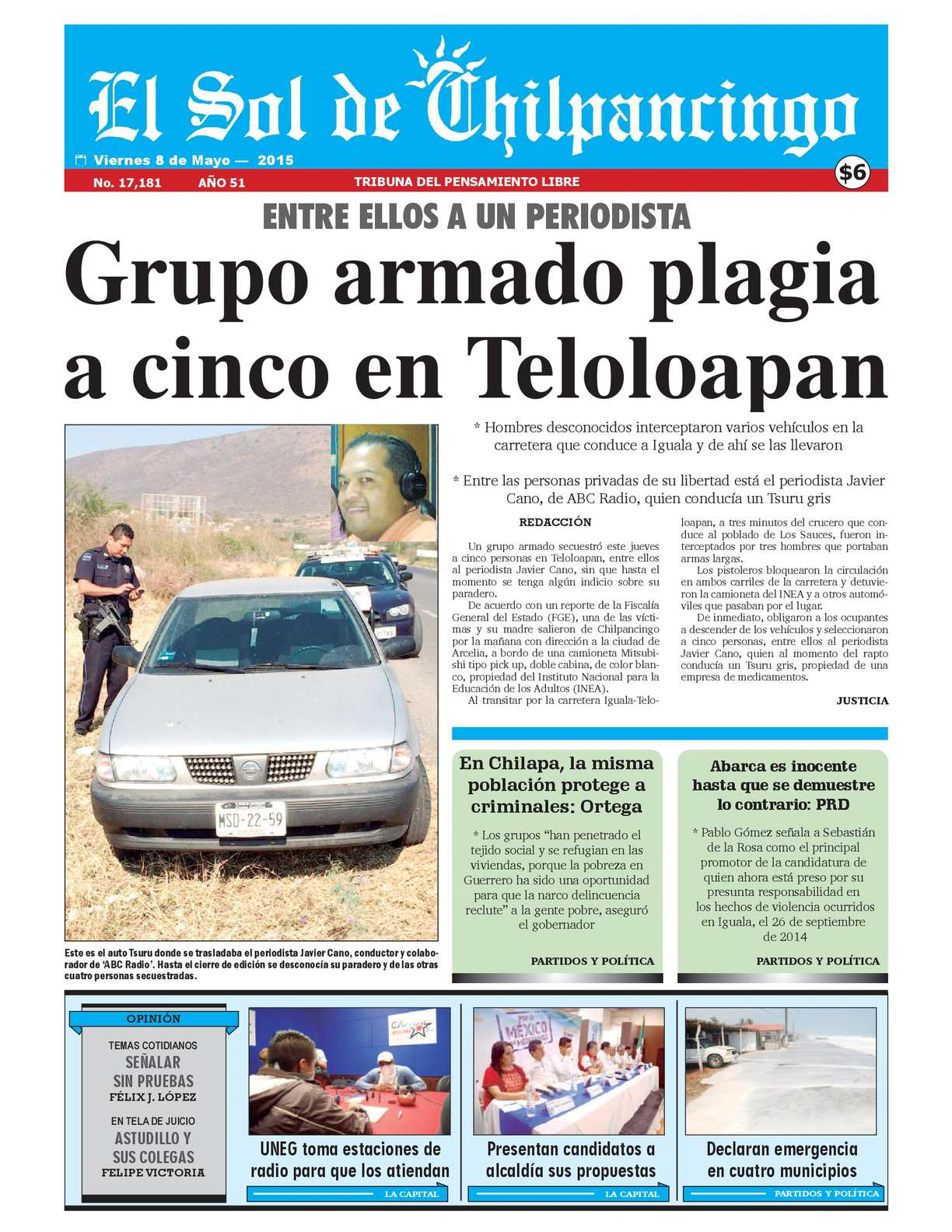 Calaméo - El Sol De Chilpancingo 08 Mayo 2015 Seccion A