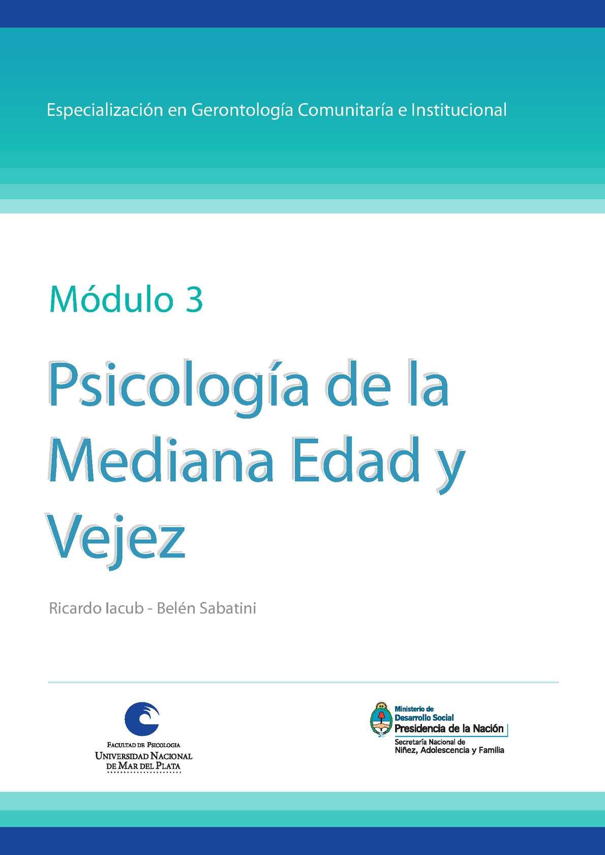 Calaméo - Psicología de la mediana edad y la vejez