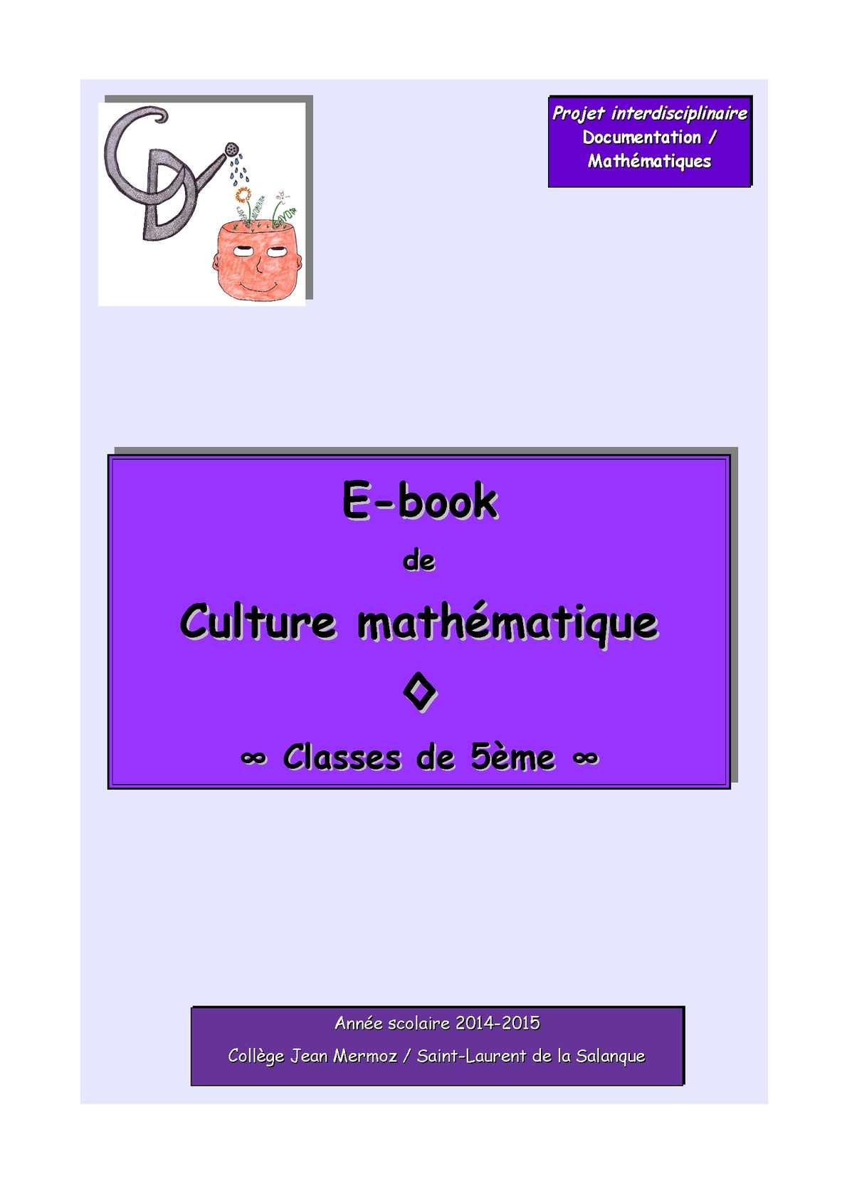 E-Book de culture mathématique