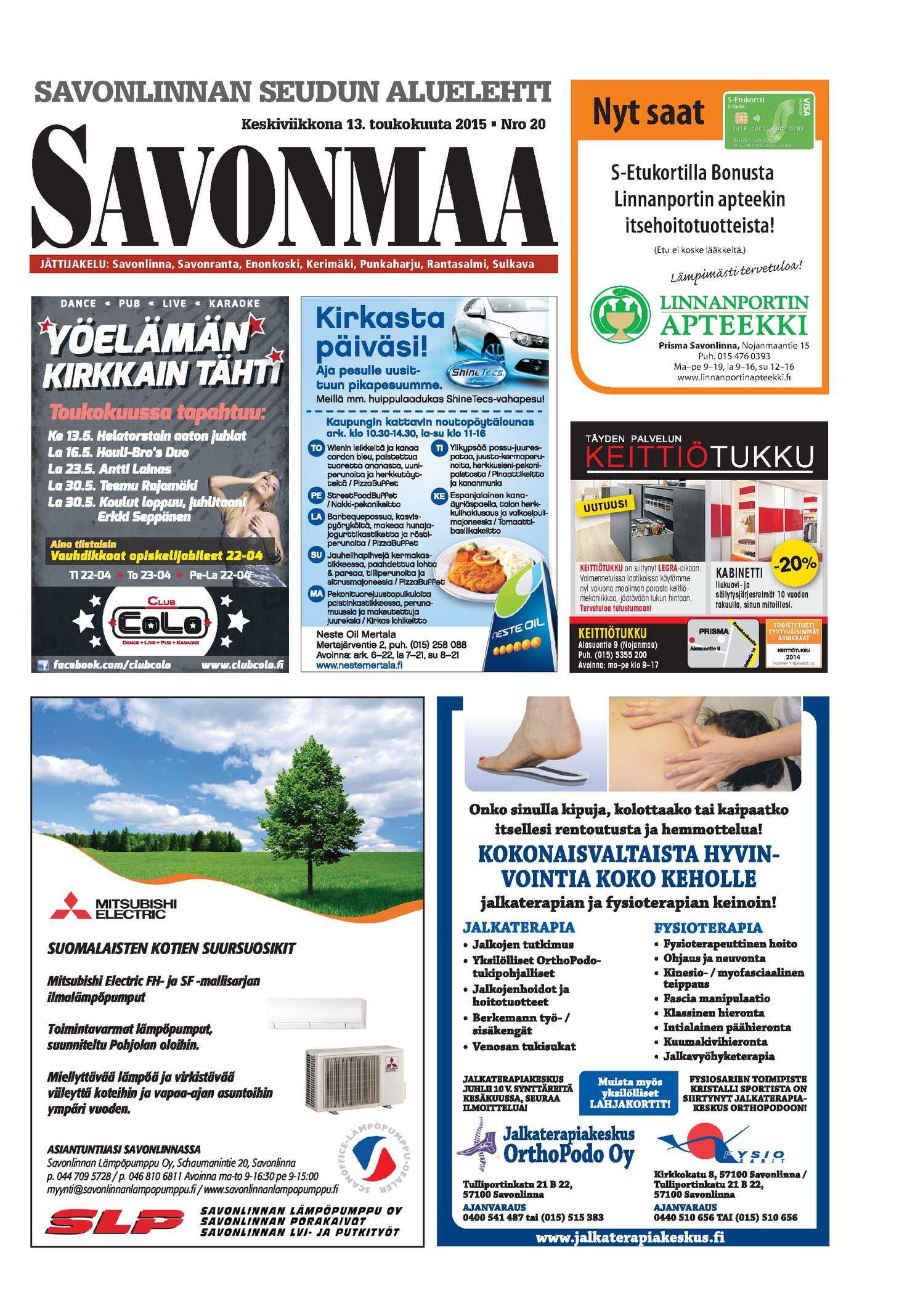 Calaméo - Savonmaa 20 13.5.2015 df79513bf1
