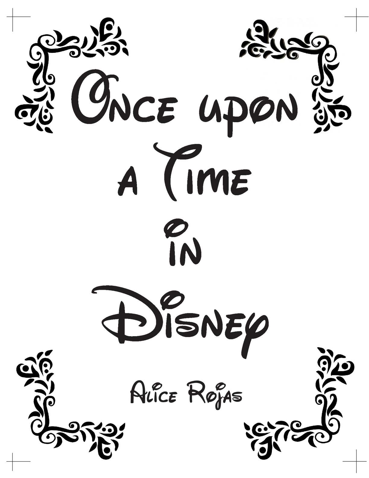 Once Upon A Time In Disney Hojas Pdf