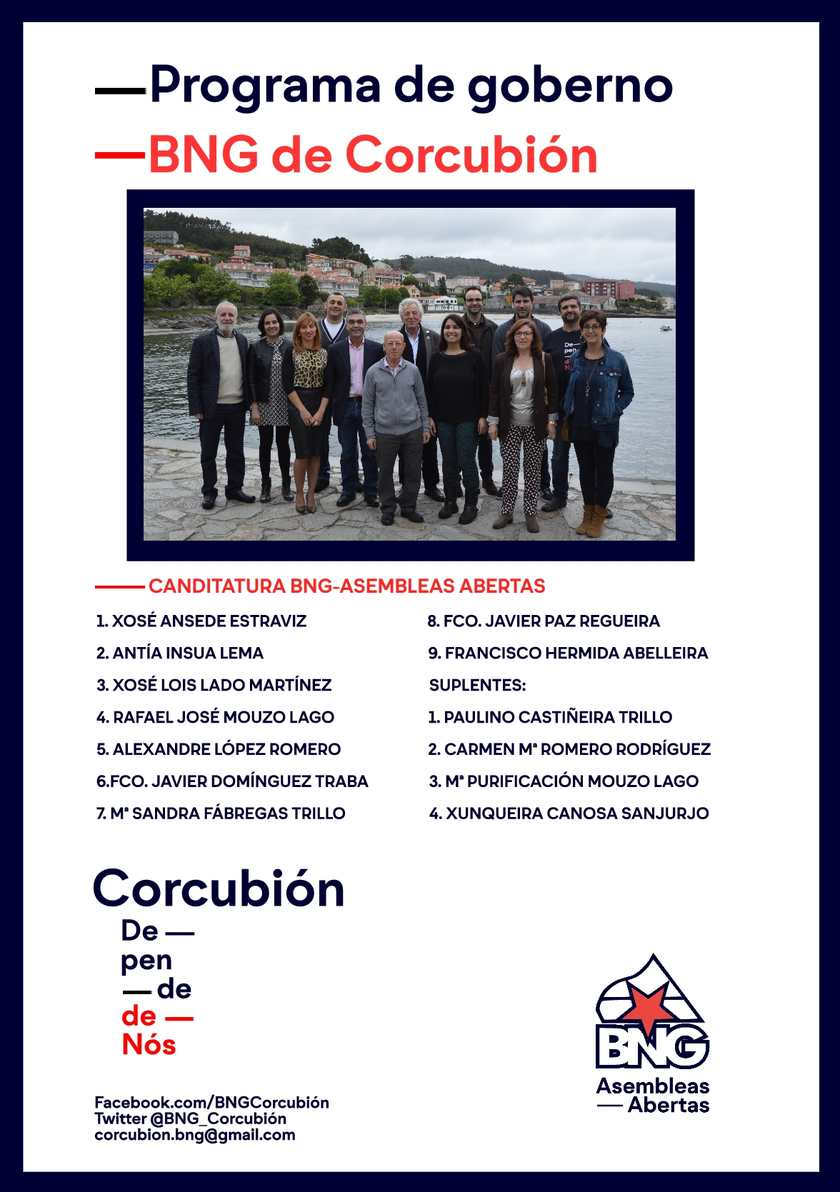 Programa do BNG de Corcubión