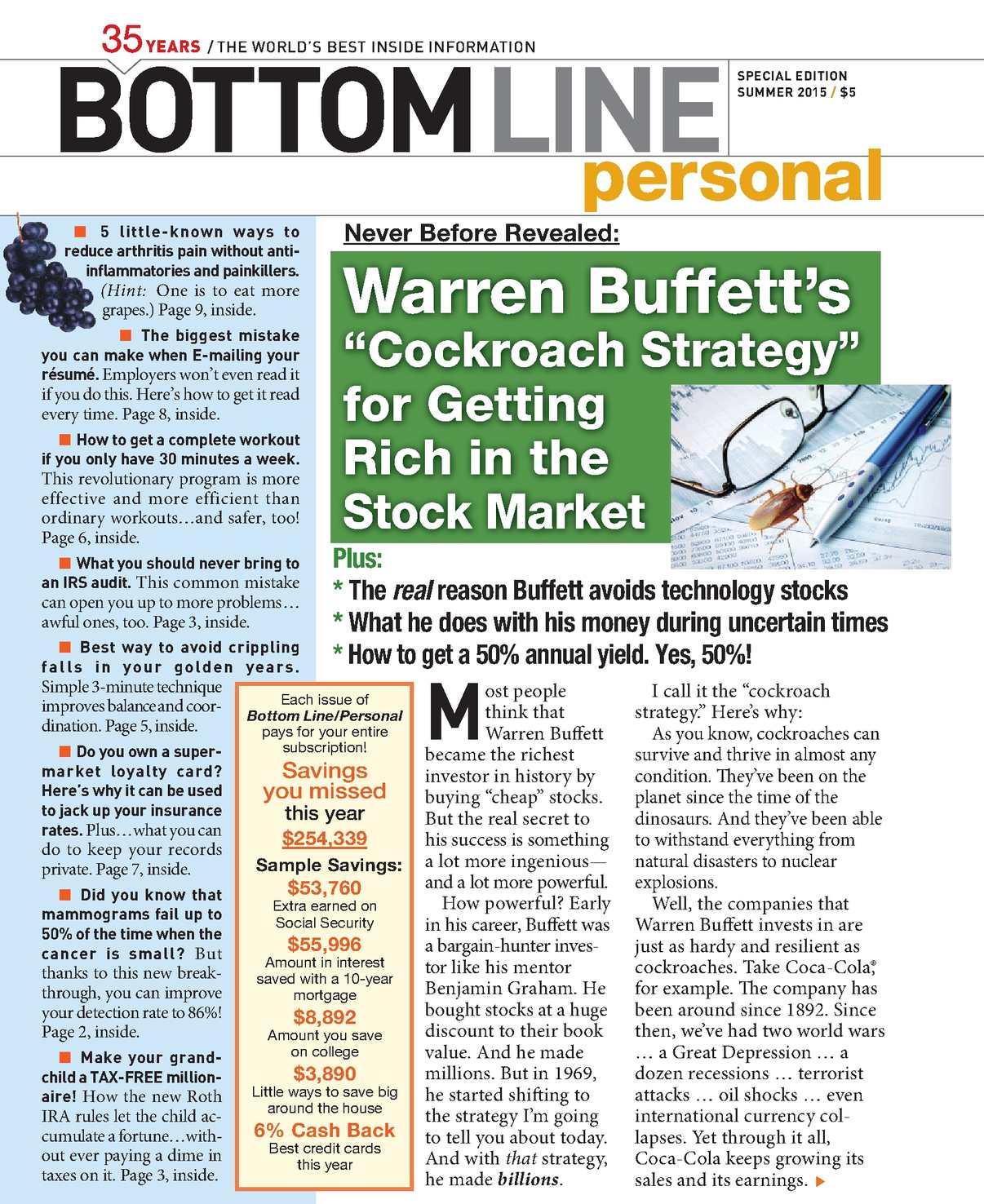 magazine personal Bottom line