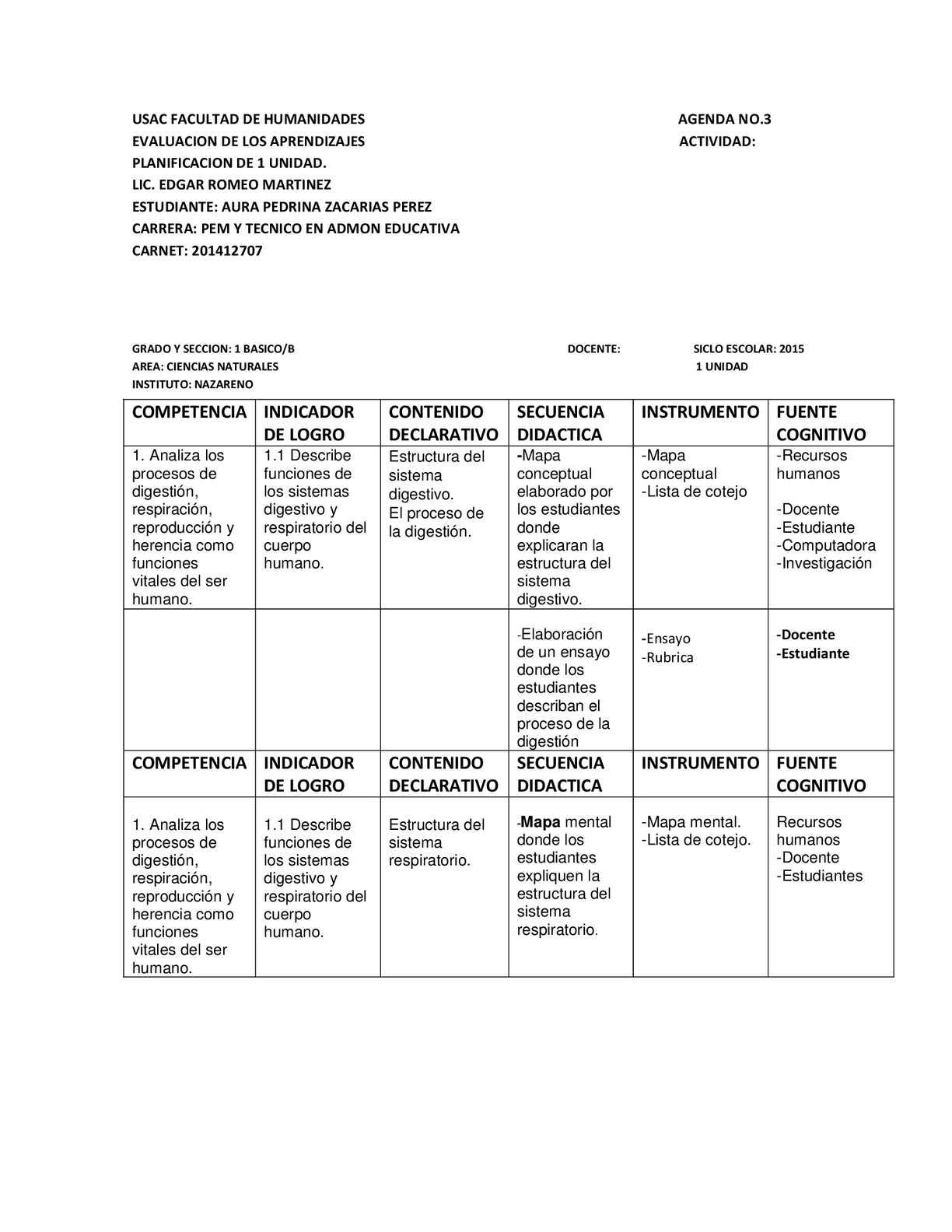 Calaméo - Planificacion De Una Unidad Ciencias Naturales Calameo ...