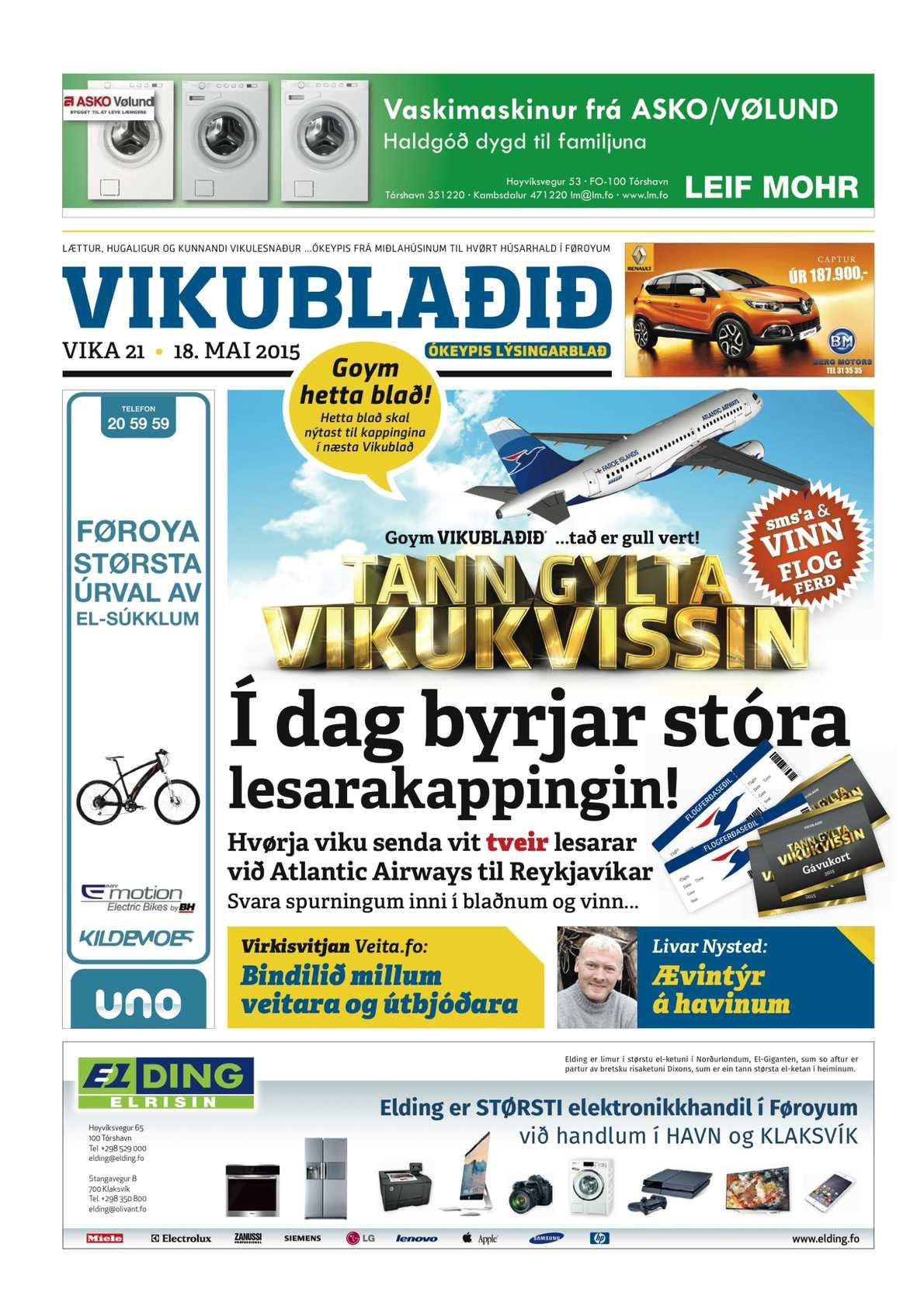 Vikublaðið 18. mai 2015