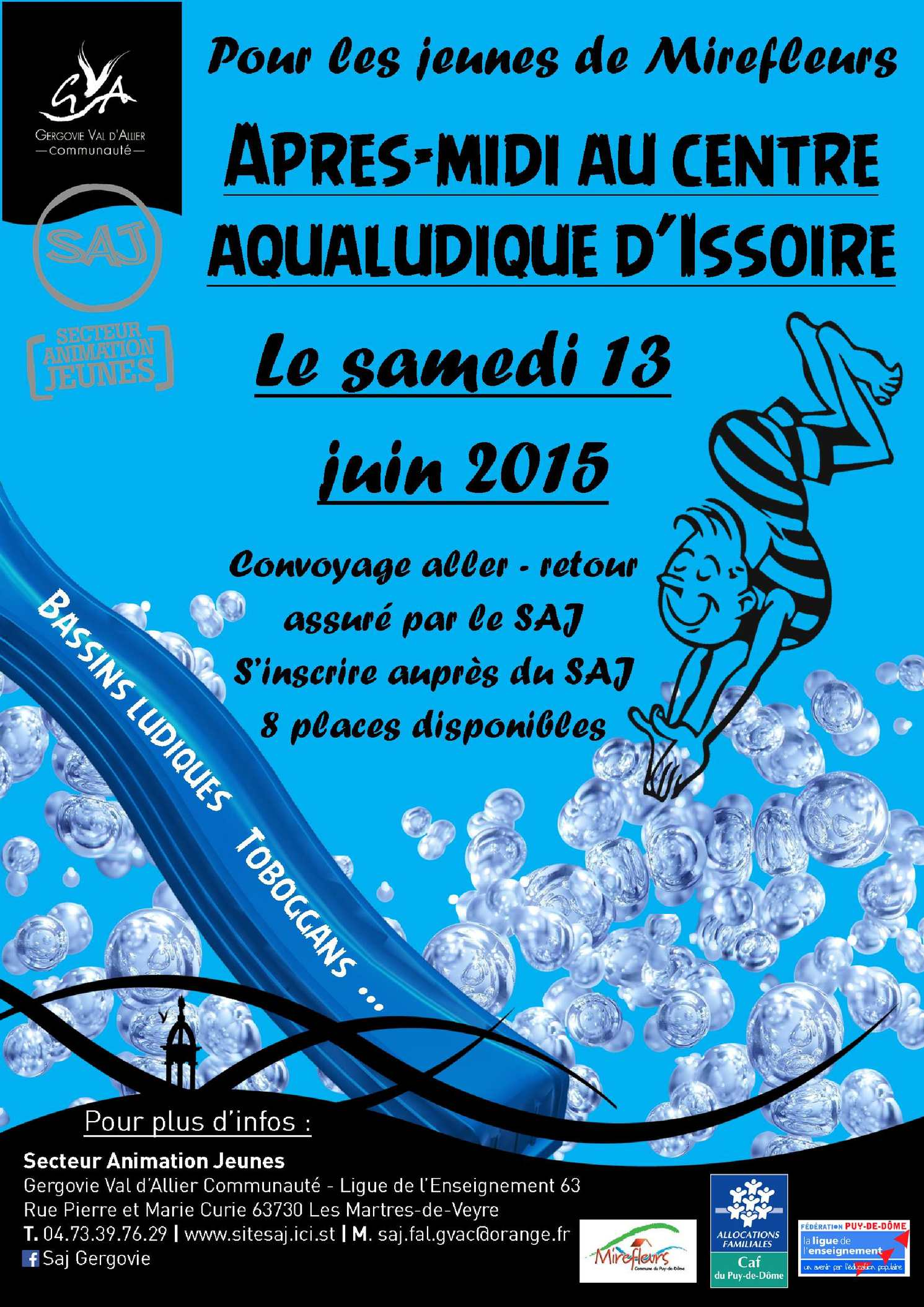Calam o animation communale piscine issoire mirefleurs for Piscine issoire