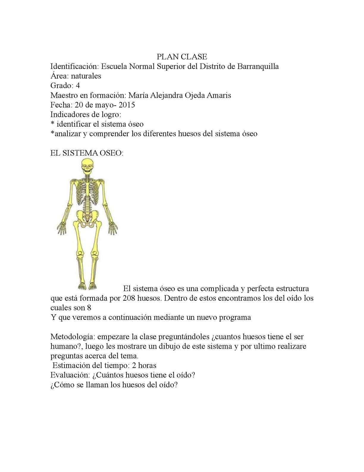 Calaméo - Plan Clase Anatomia
