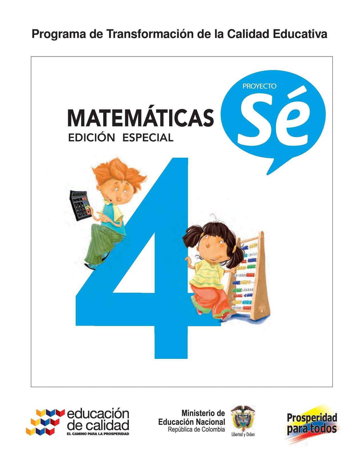 4° Matemáticas Libro Estudiante
